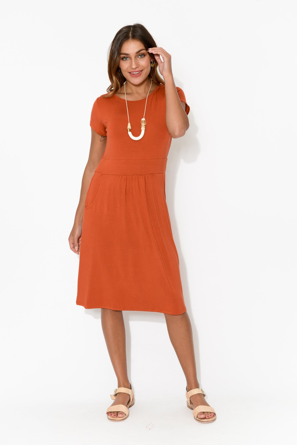 Beth Rust Bamboo Dress