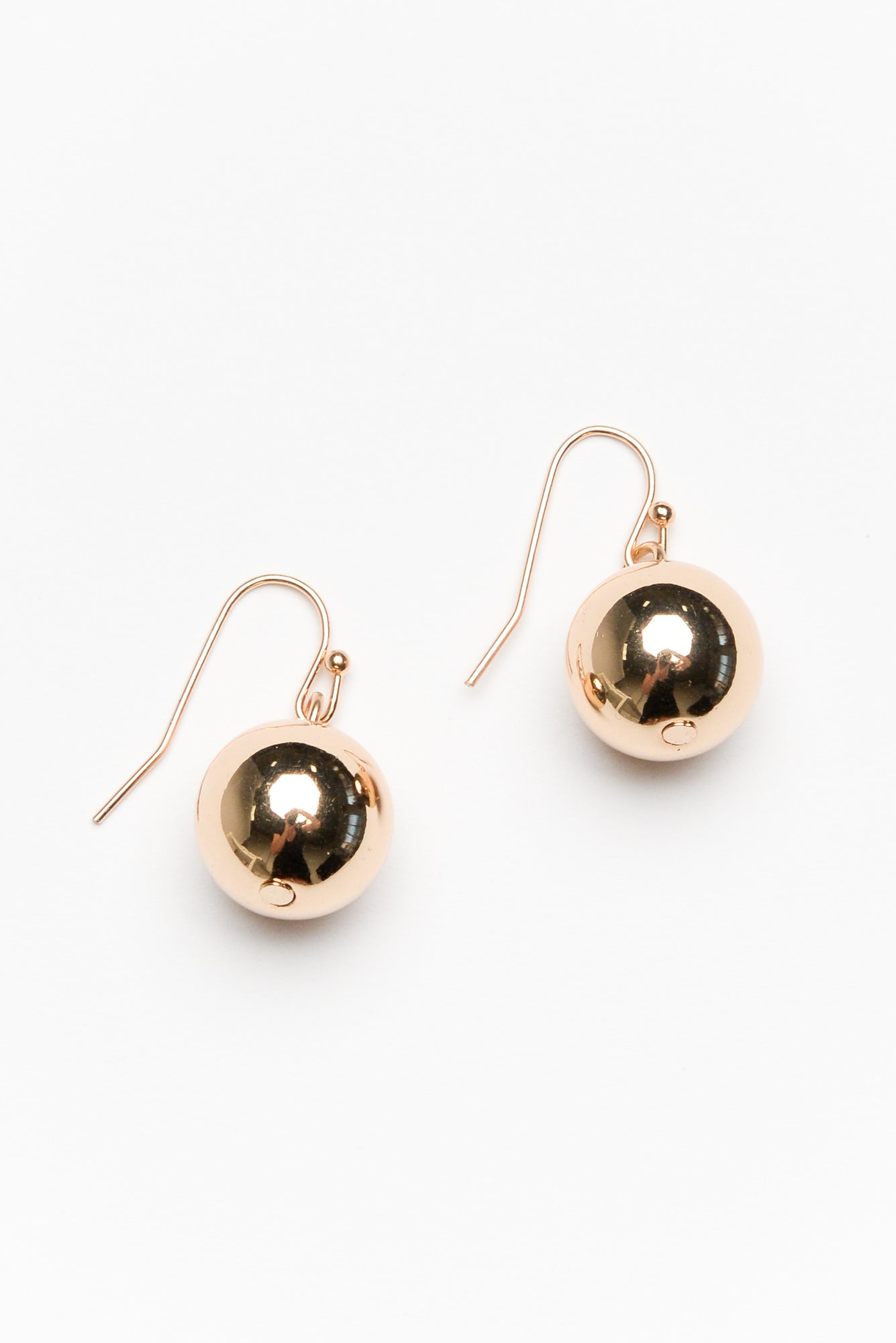 Bethany Gold Ball Drop Earring