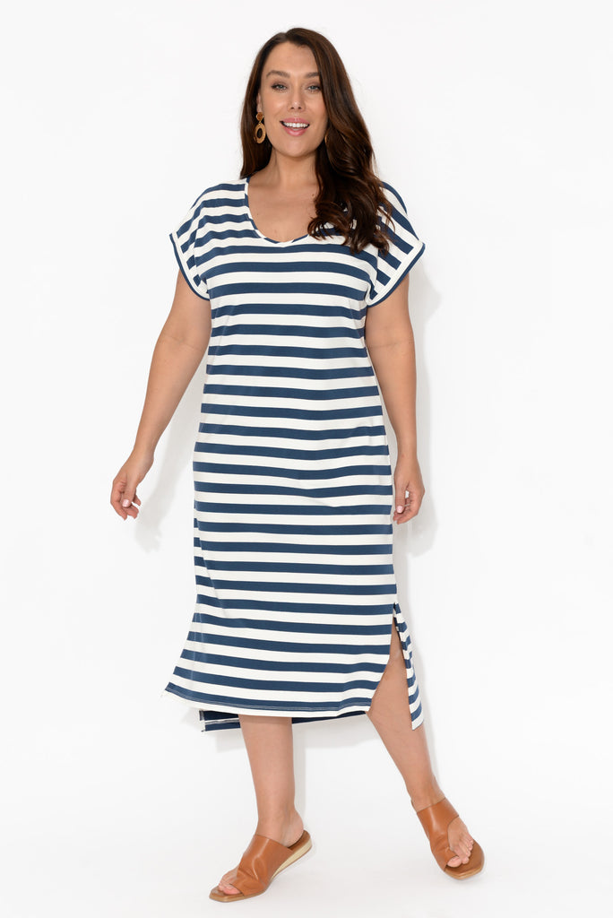 Betty Stripe Midi Dress