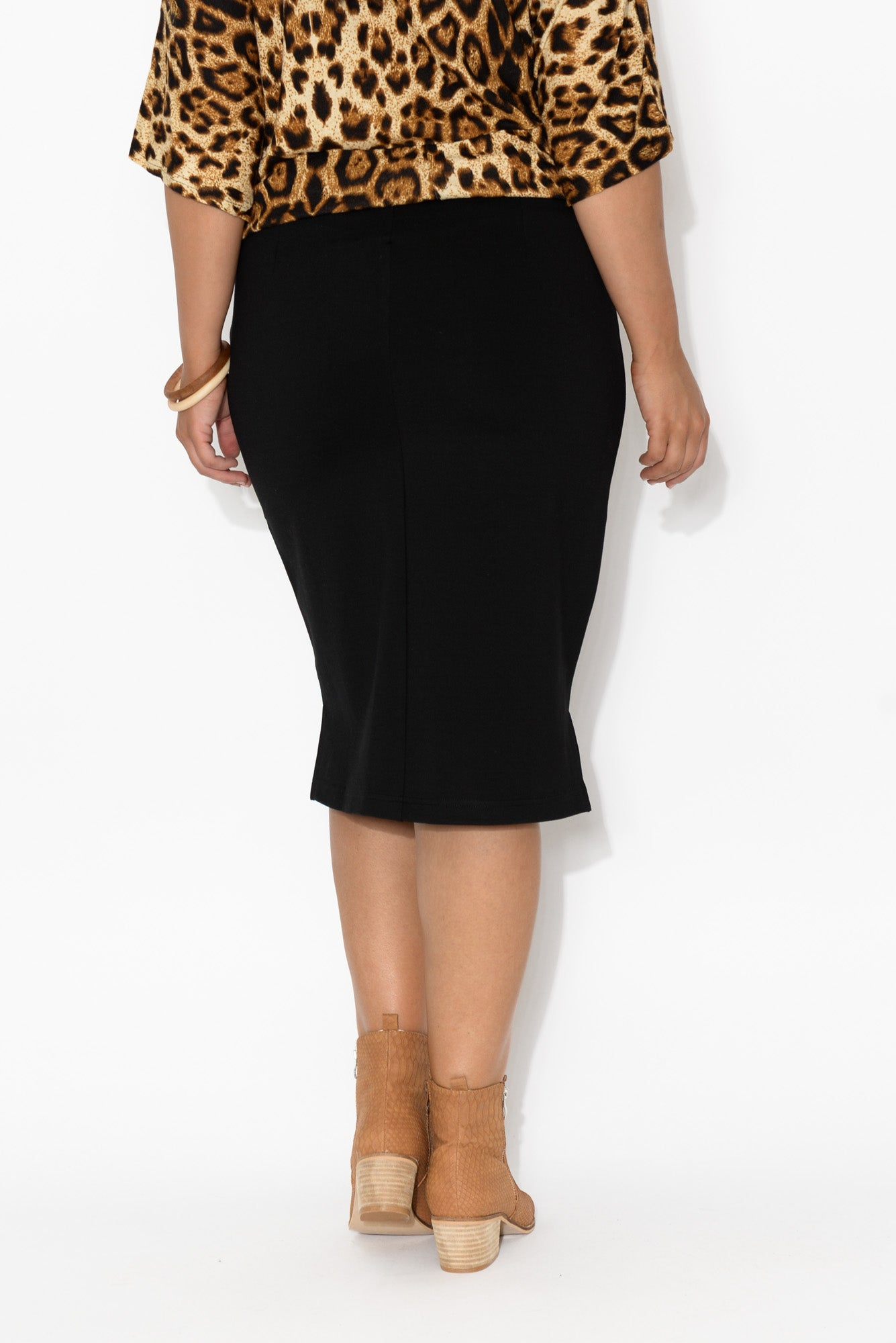 Beverly Black Ponte Skirt