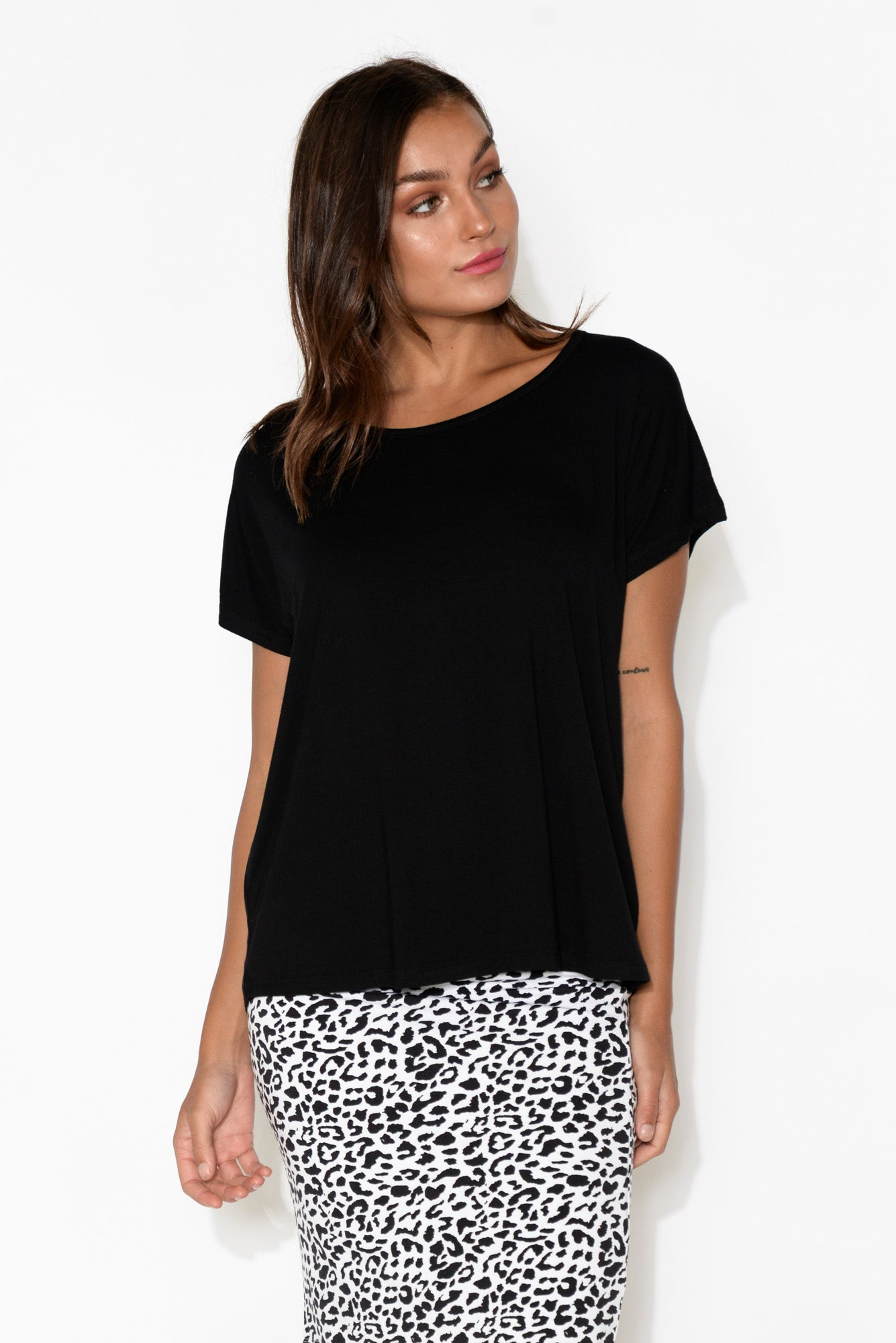 Eadie Black Bamboo Top