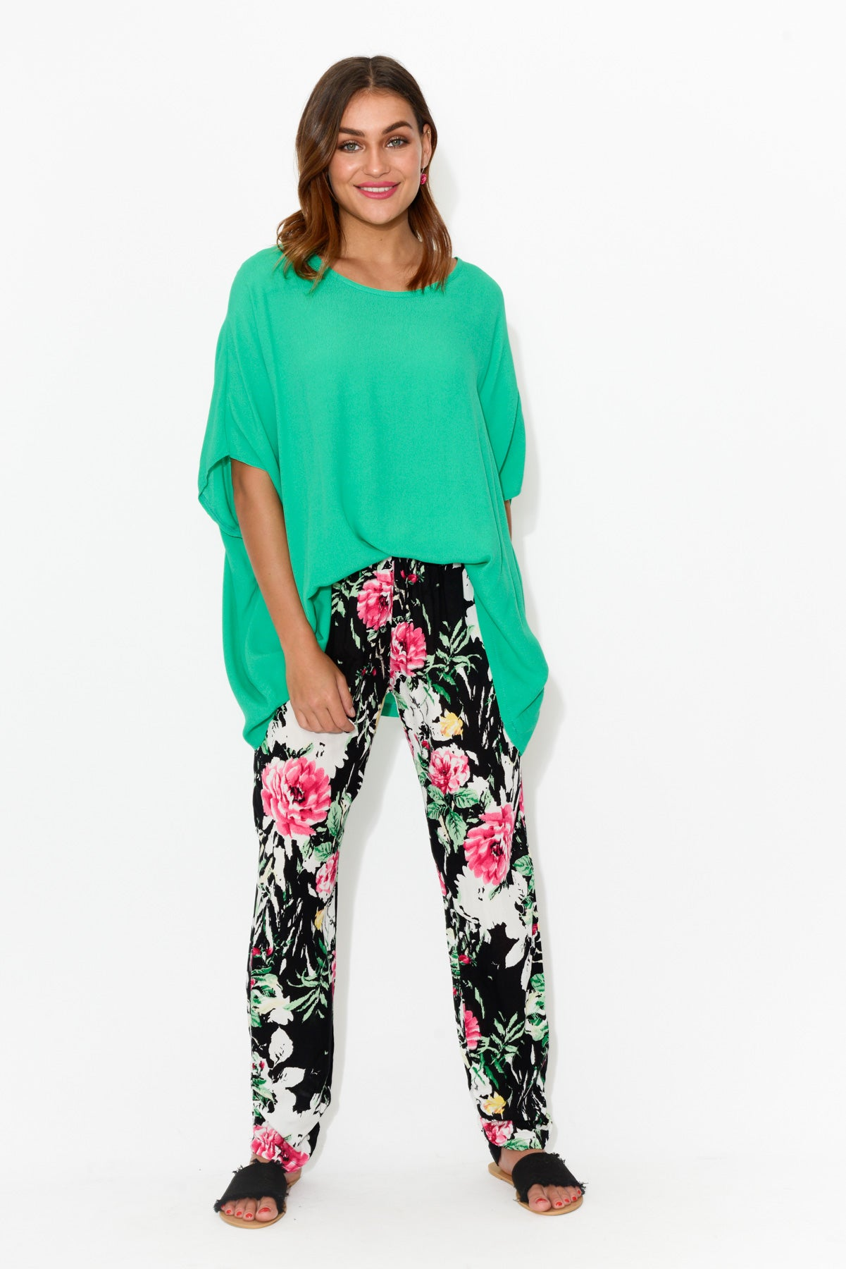 Black Floral Pant - Blue Bungalow