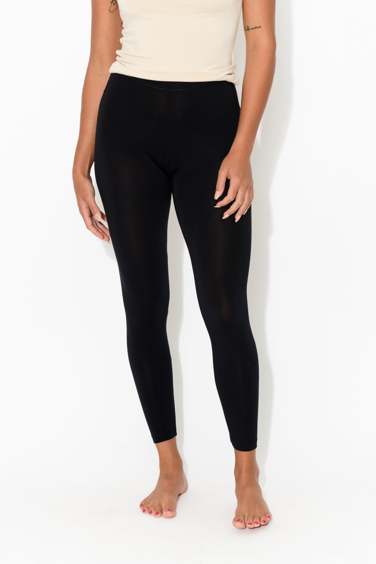 Black Modal 7/8 Legging