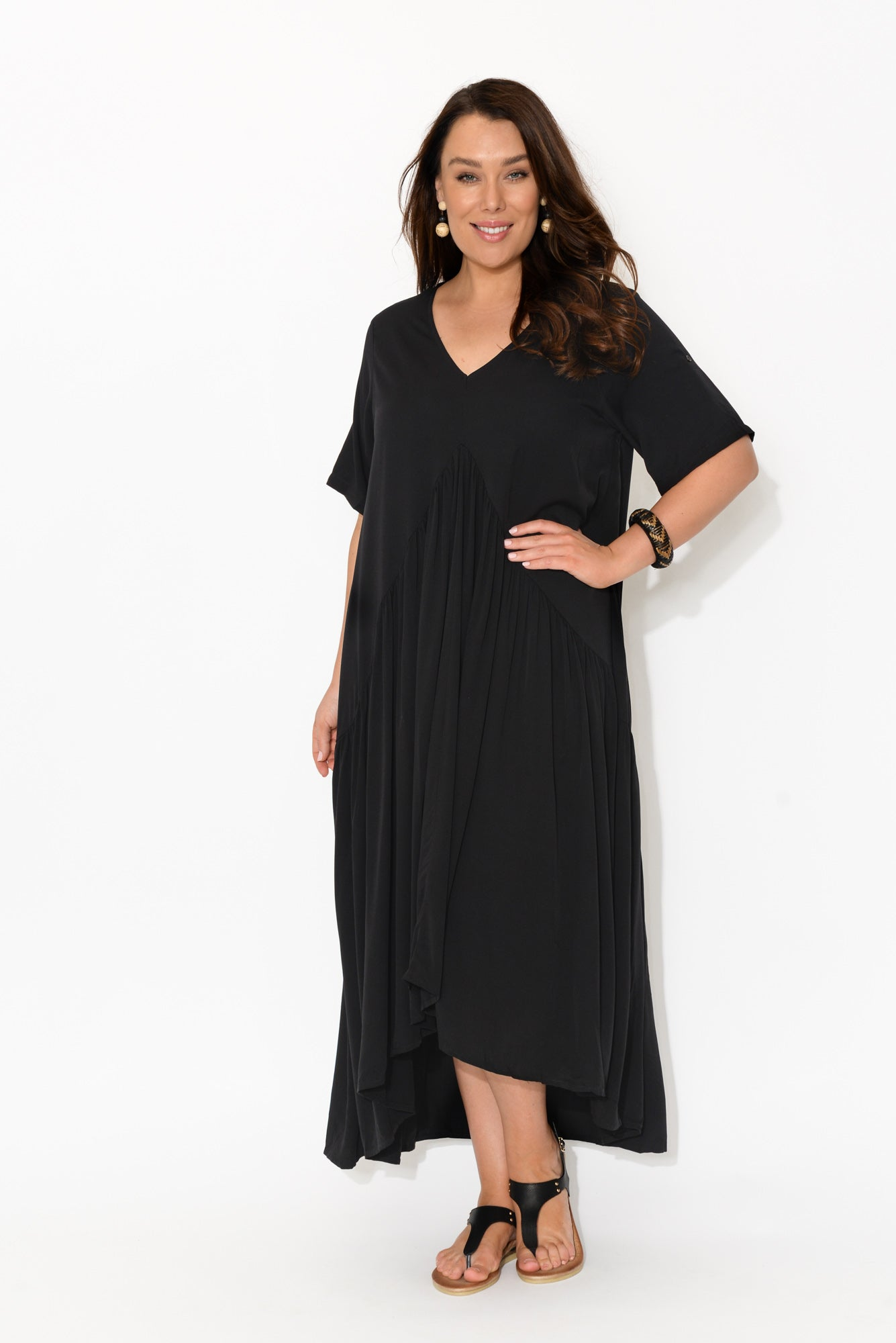 Black Peak Maxi Dress