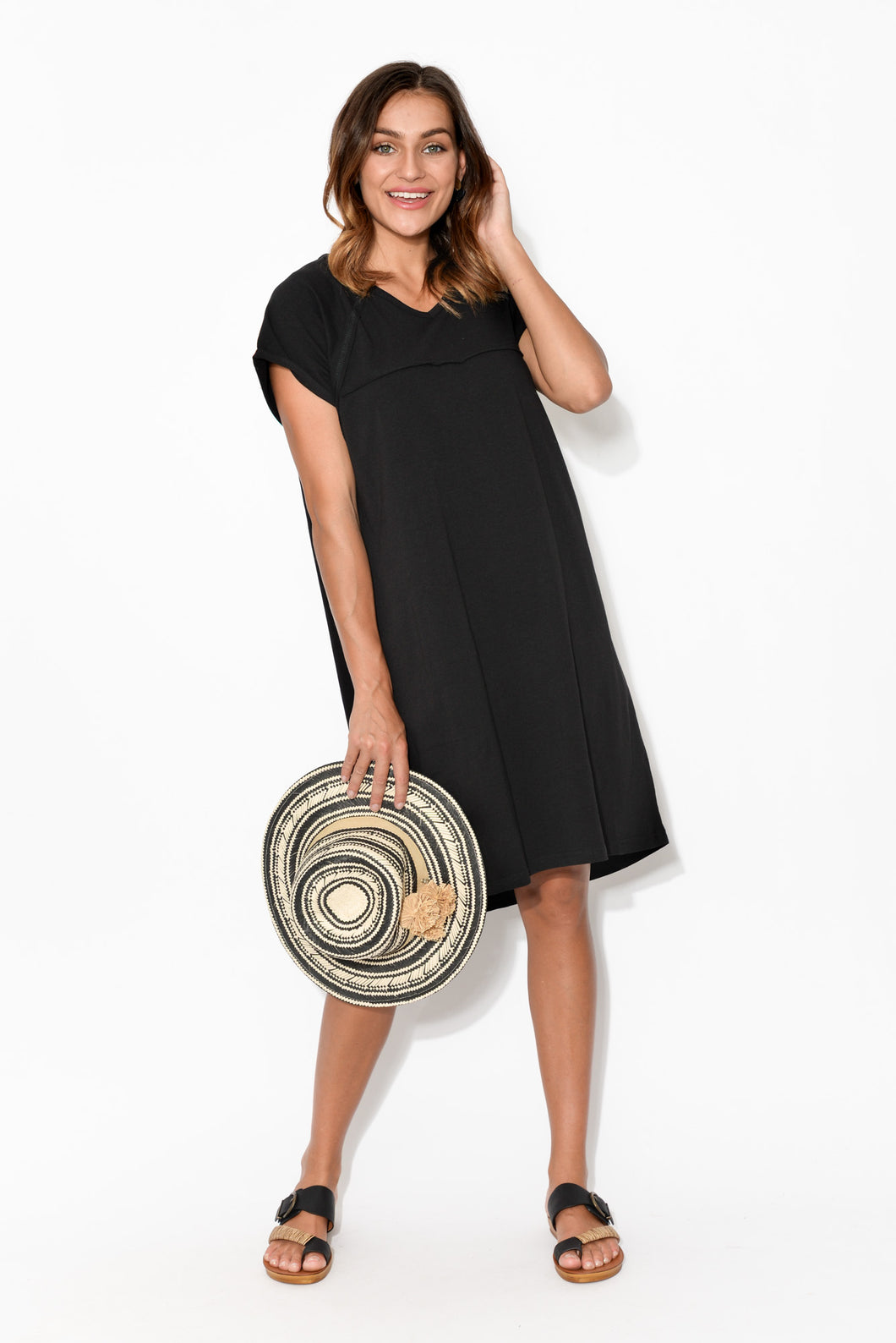 Black Slouch Tee Dress