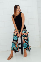 Black Tropical Wrap Pant