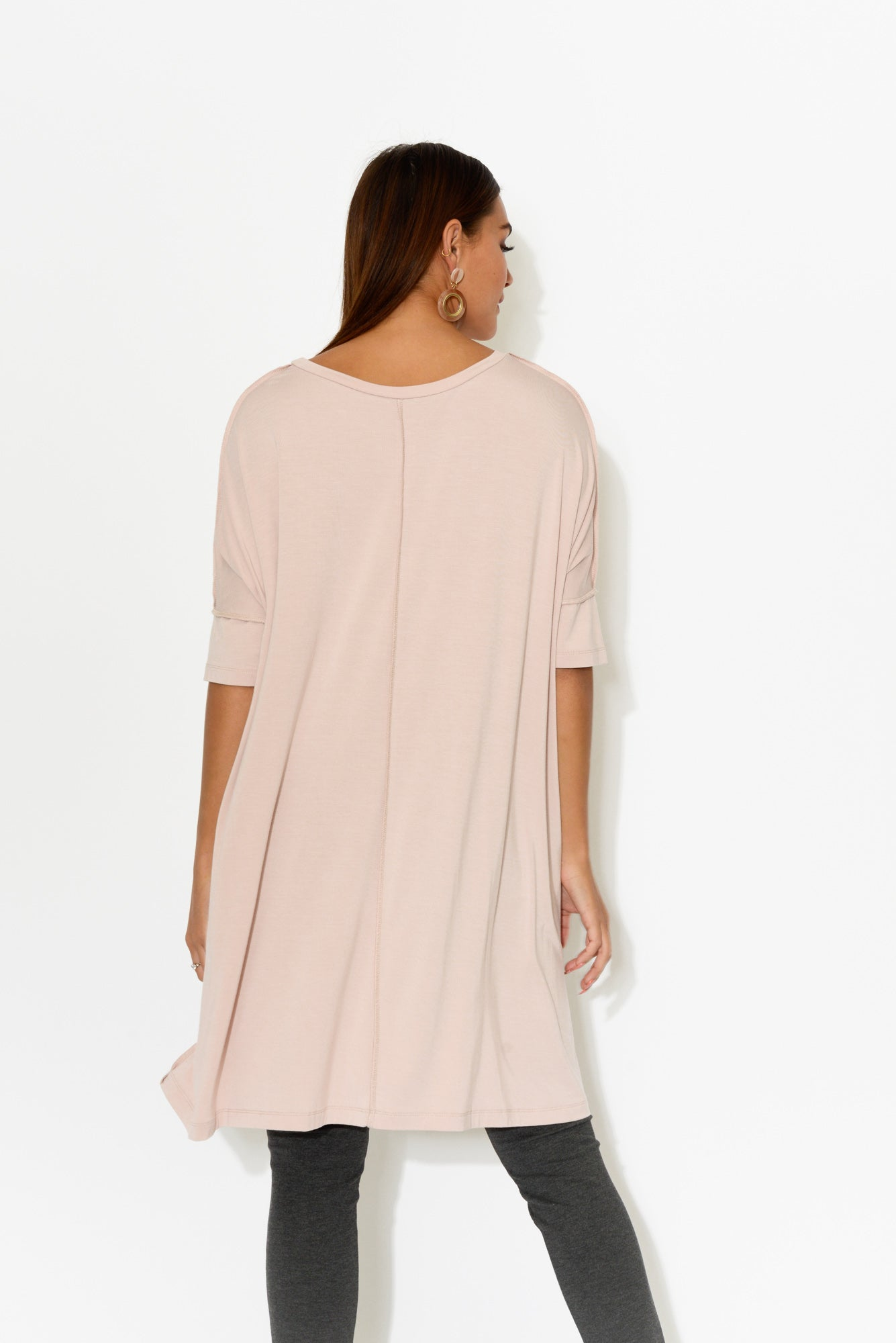 Blush Bamboo Exposed Seam Top - Blue Bungalow