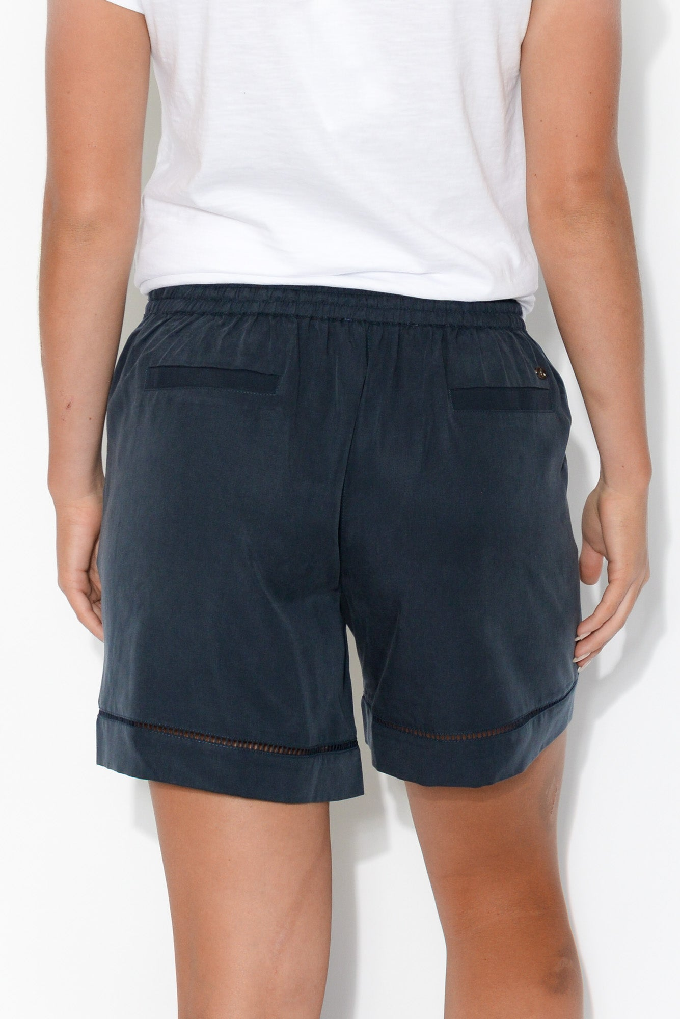Bree Navy Drawstring Shorts