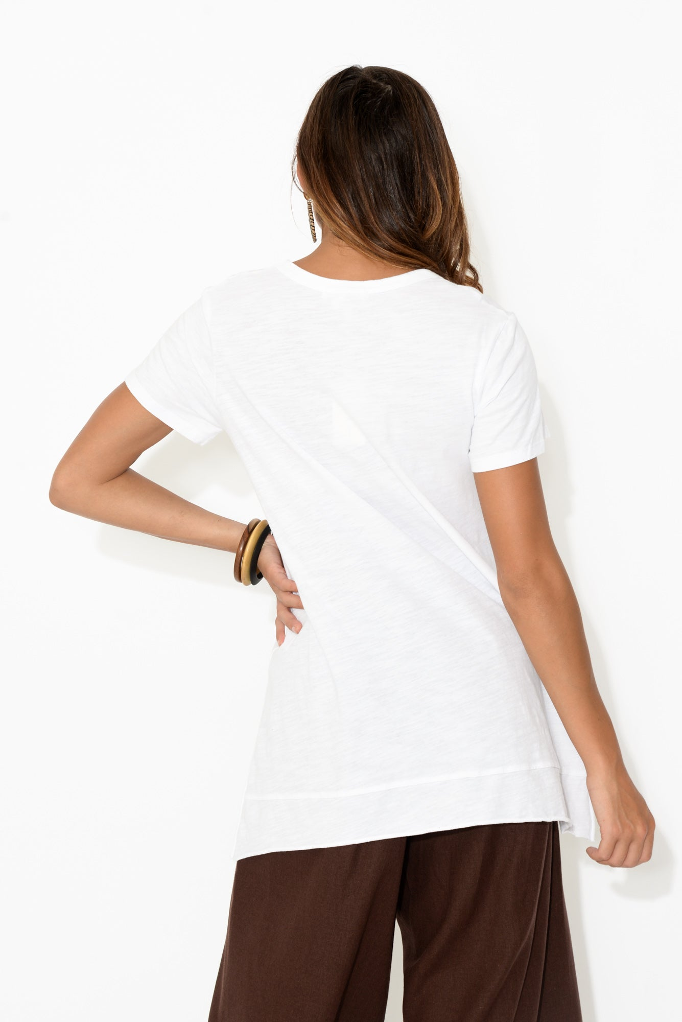 Brighton White Cotton Tee