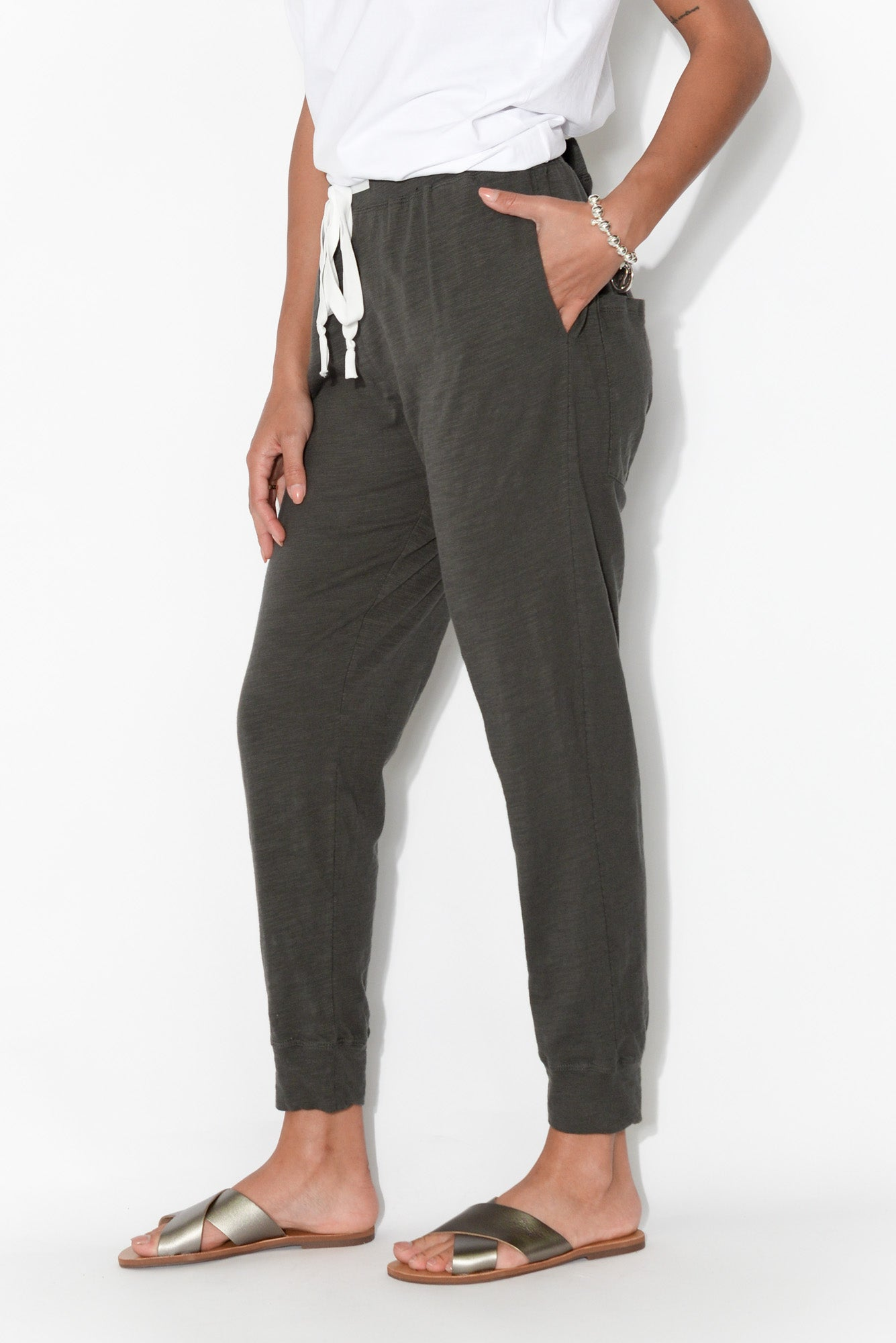 Brooklyn Charcoal Cotton Lounge Pant