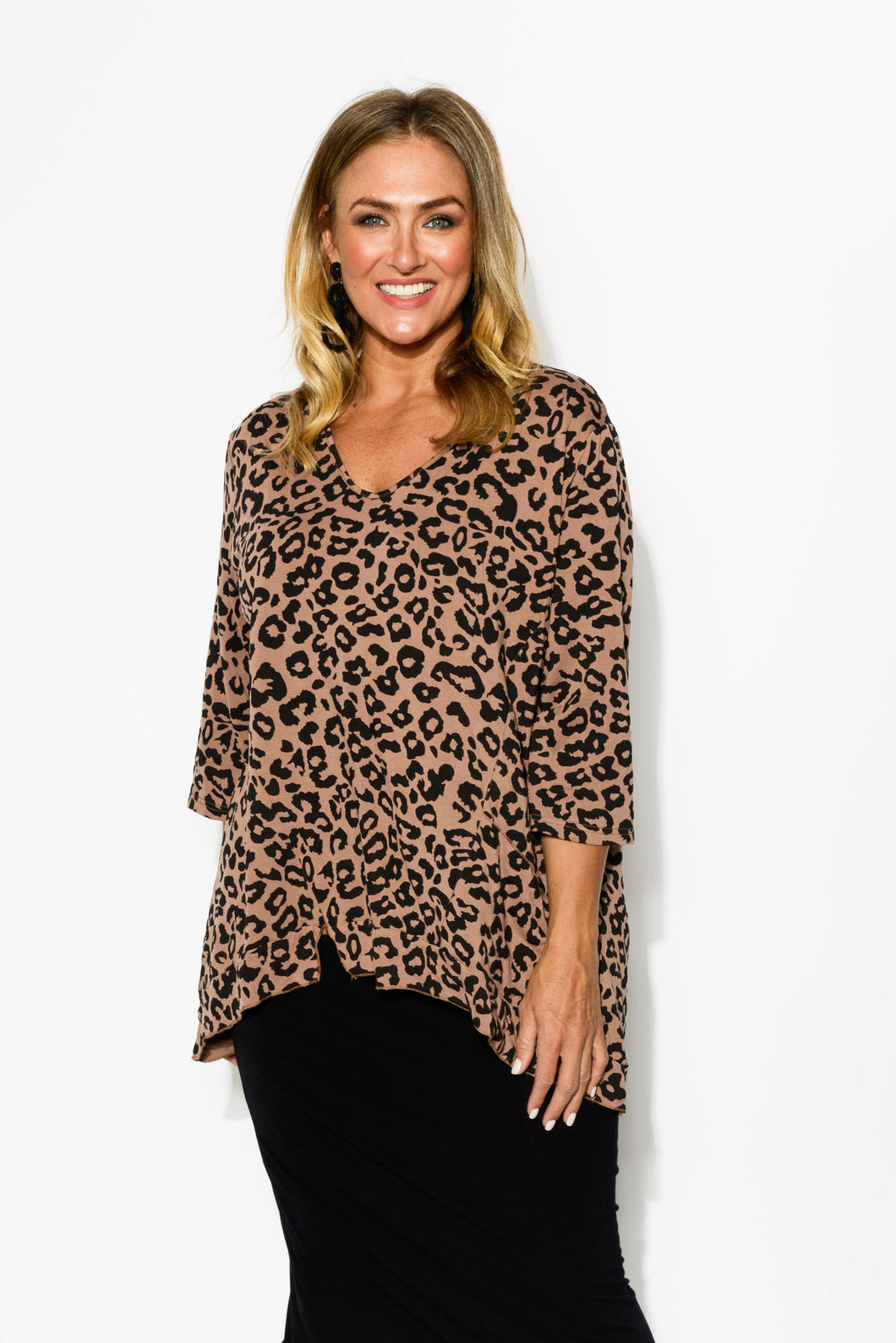Brown Leopard Hi Lo Top - Blue Bungalow