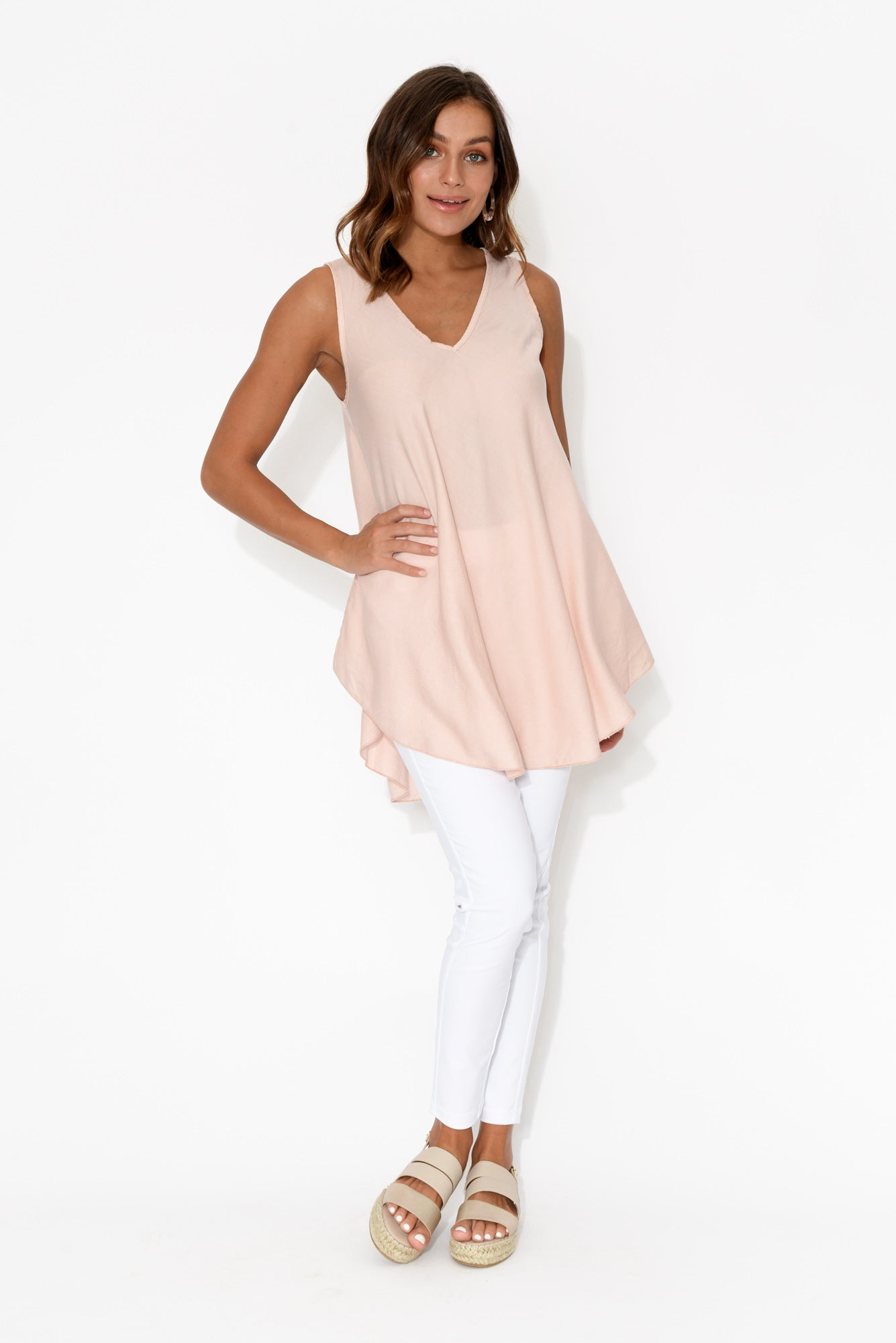 Bryce Pink Sleeveless Tunic