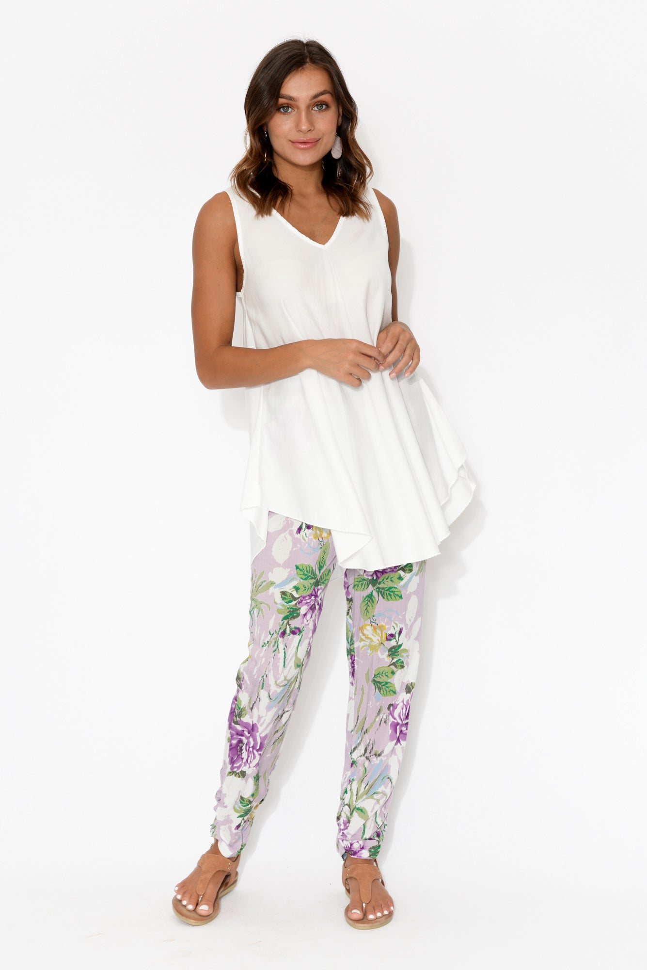 Bryce White Sleeveless Tunic