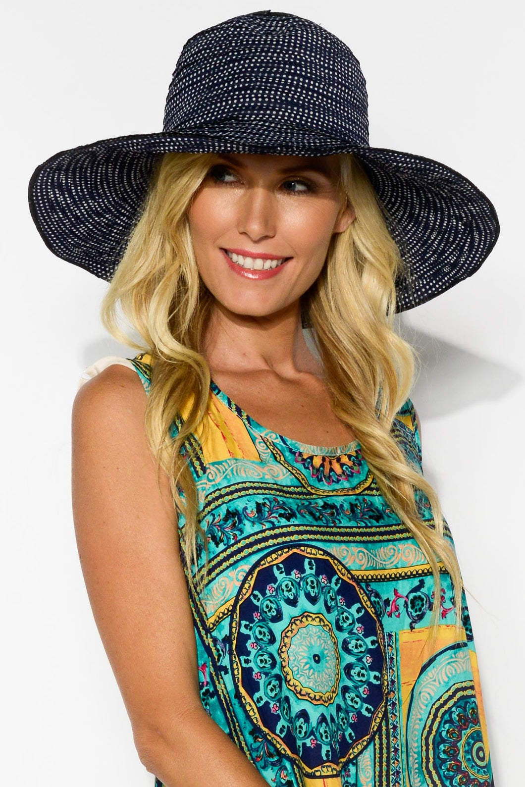 Dailly Navy Spotty Hat - Blue Bungalow