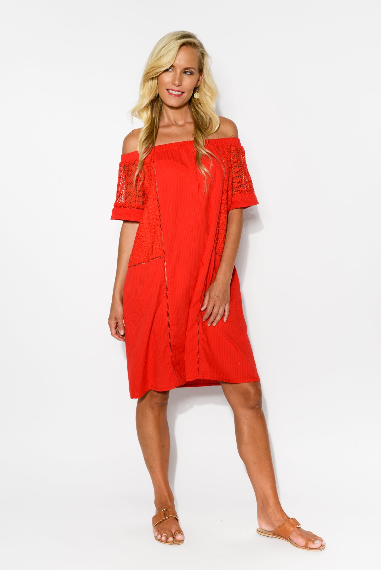 10984ffef352 ... Jodie Red Off Shoulder Dress - Blue Bungalow ...
