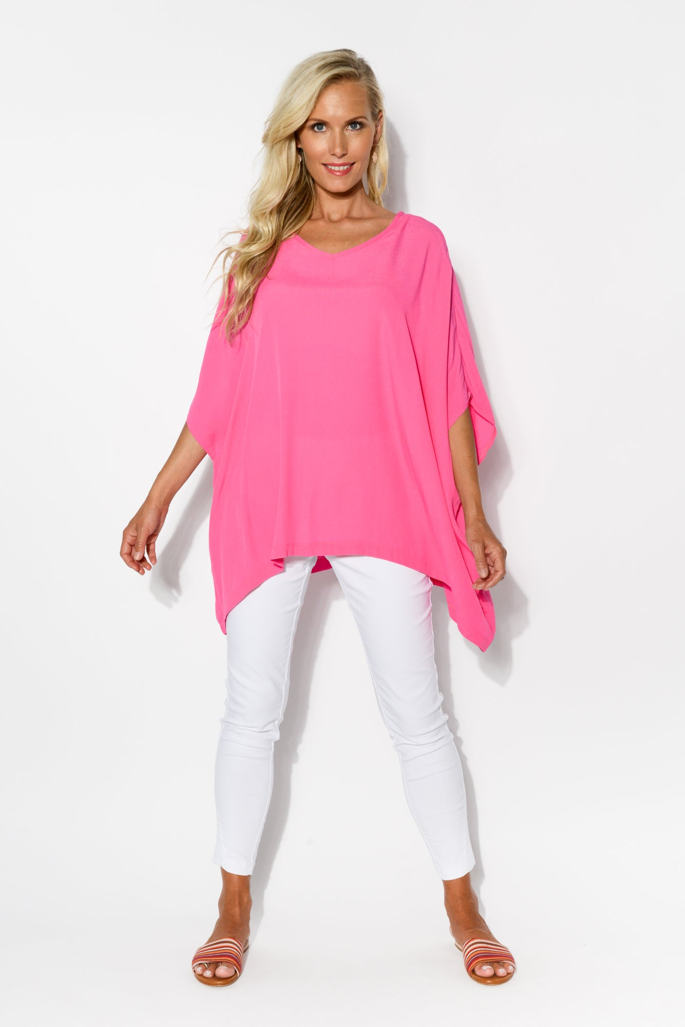 Pink Thea Drape Top - Blue Bungalow