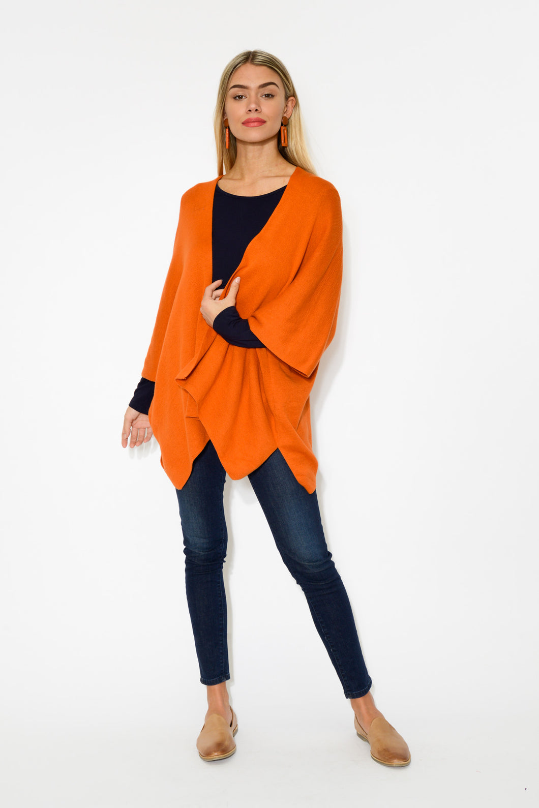 Cady Orange Cotton Cape - Blue Bungalow