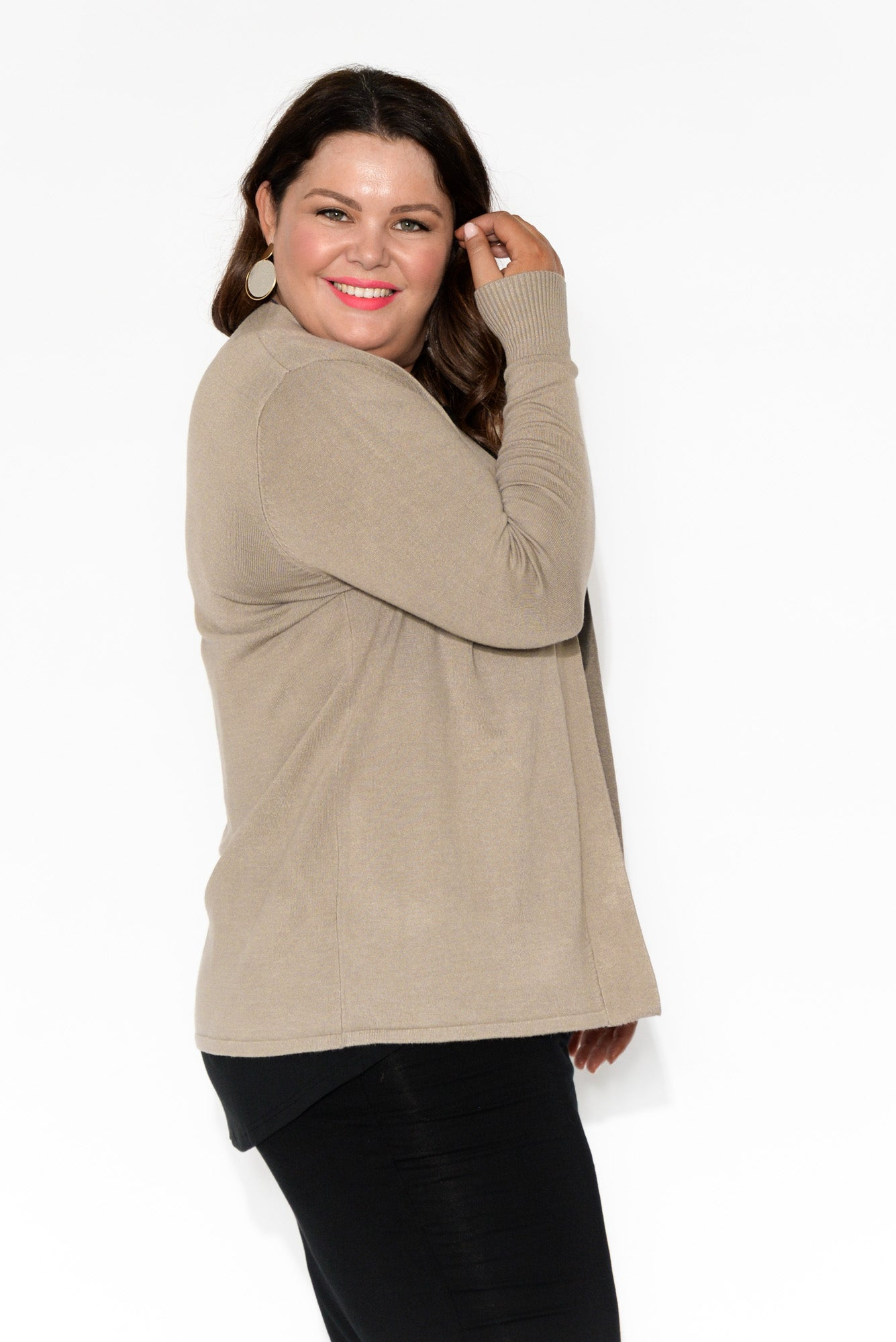 Caitlin Mocha Brown Cardigan