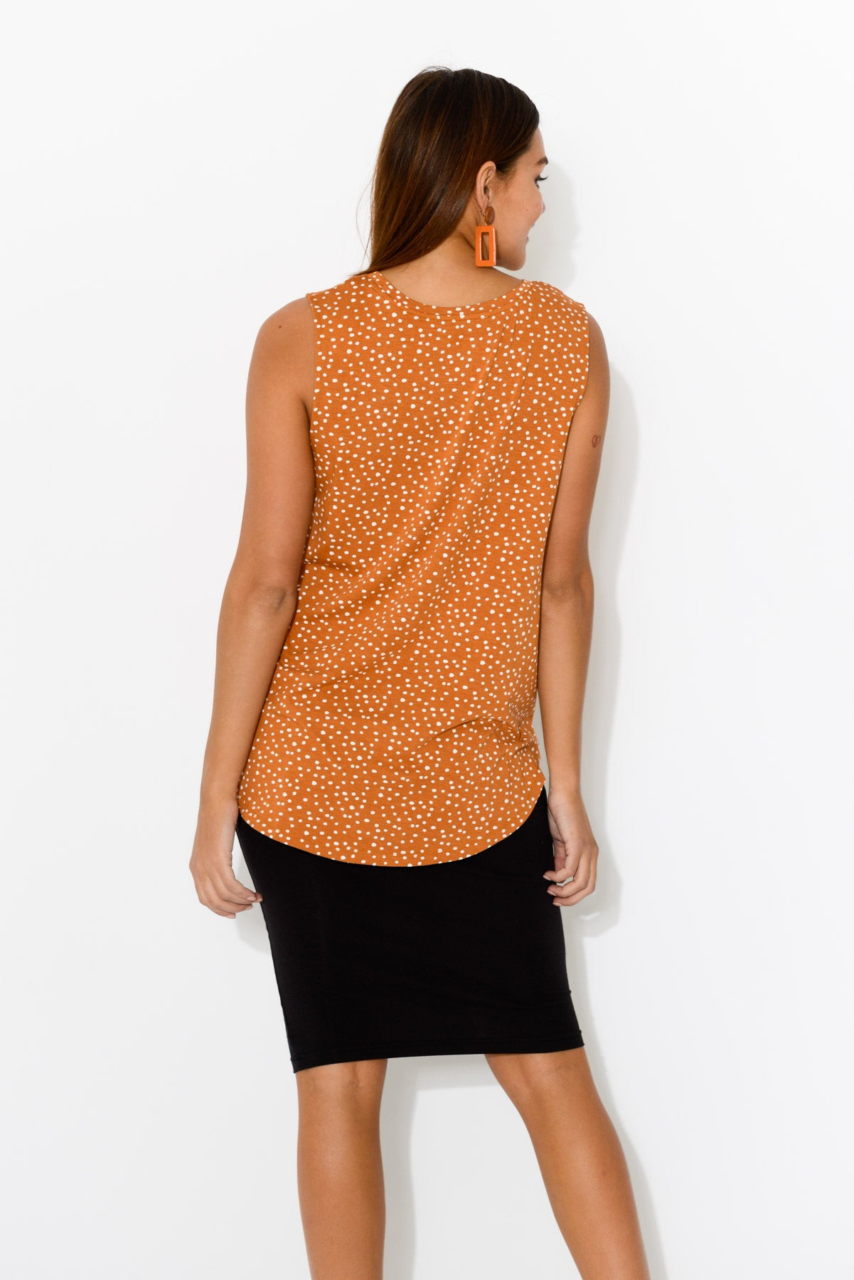 Capri Orange Spot Tank - Blue Bungalow