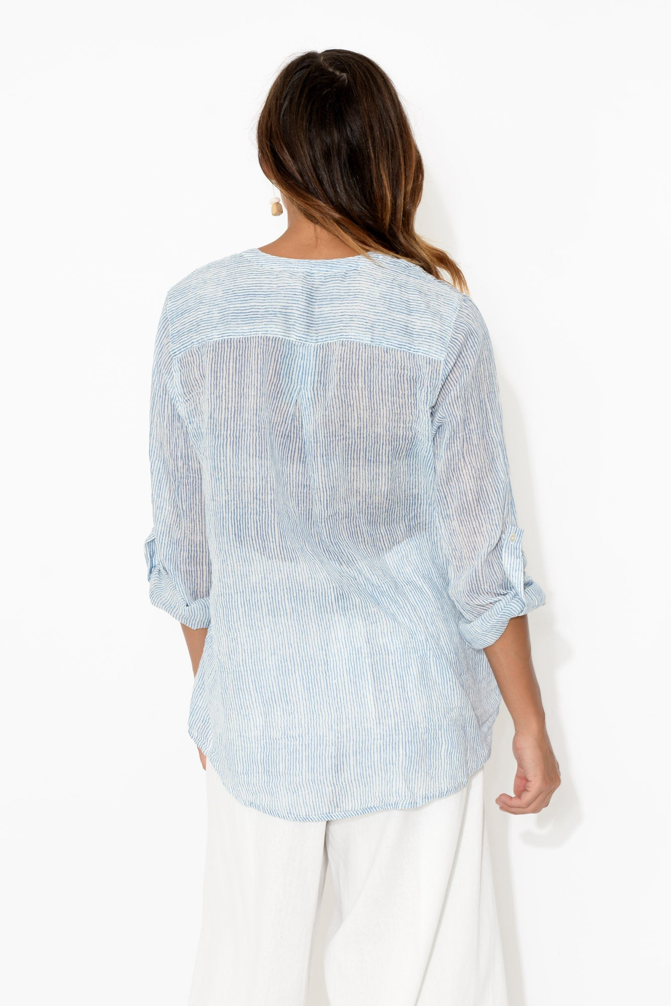 Caprice Blue Lines Cotton Shirt
