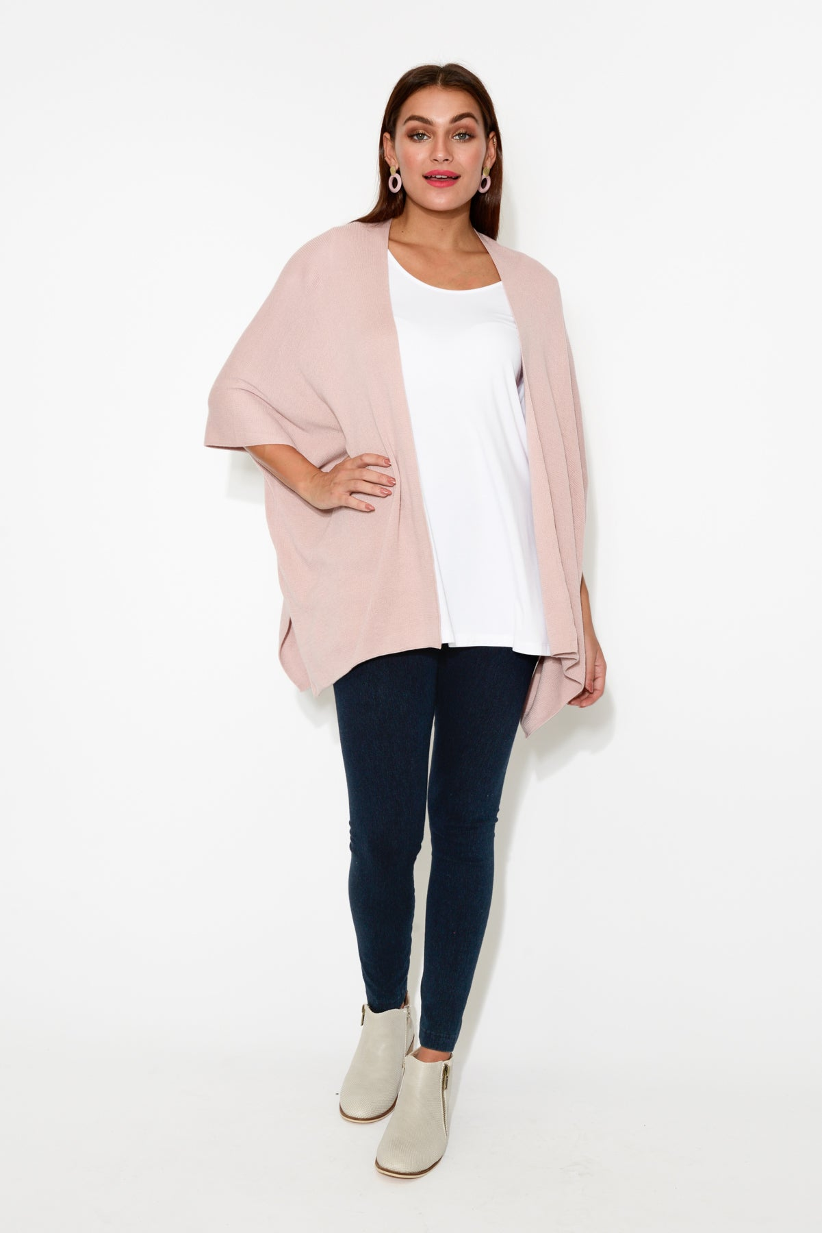 Cady Blush Cotton Cape - Blue Bungalow