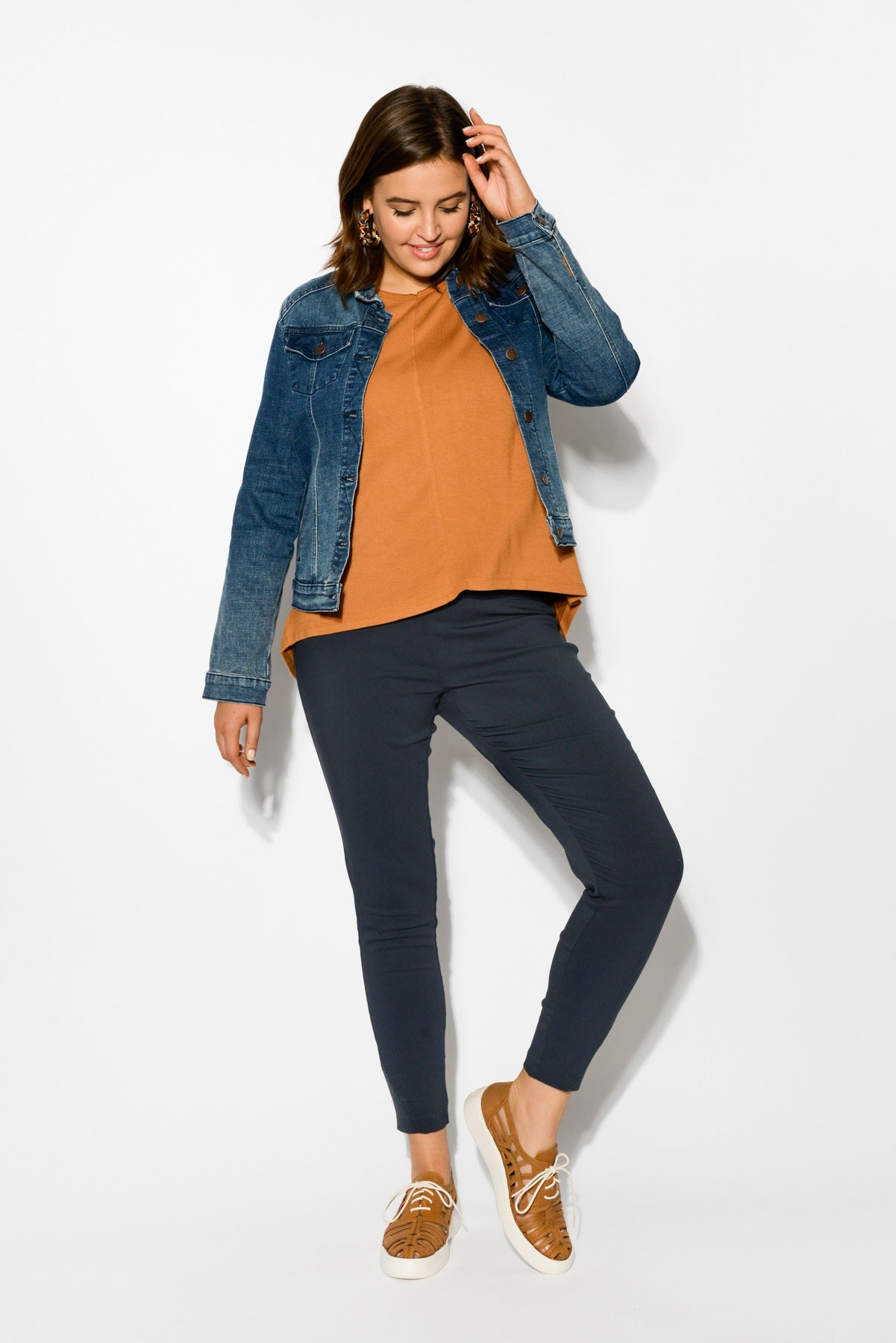 Demi Blue Denim Jacket - Blue Bungalow