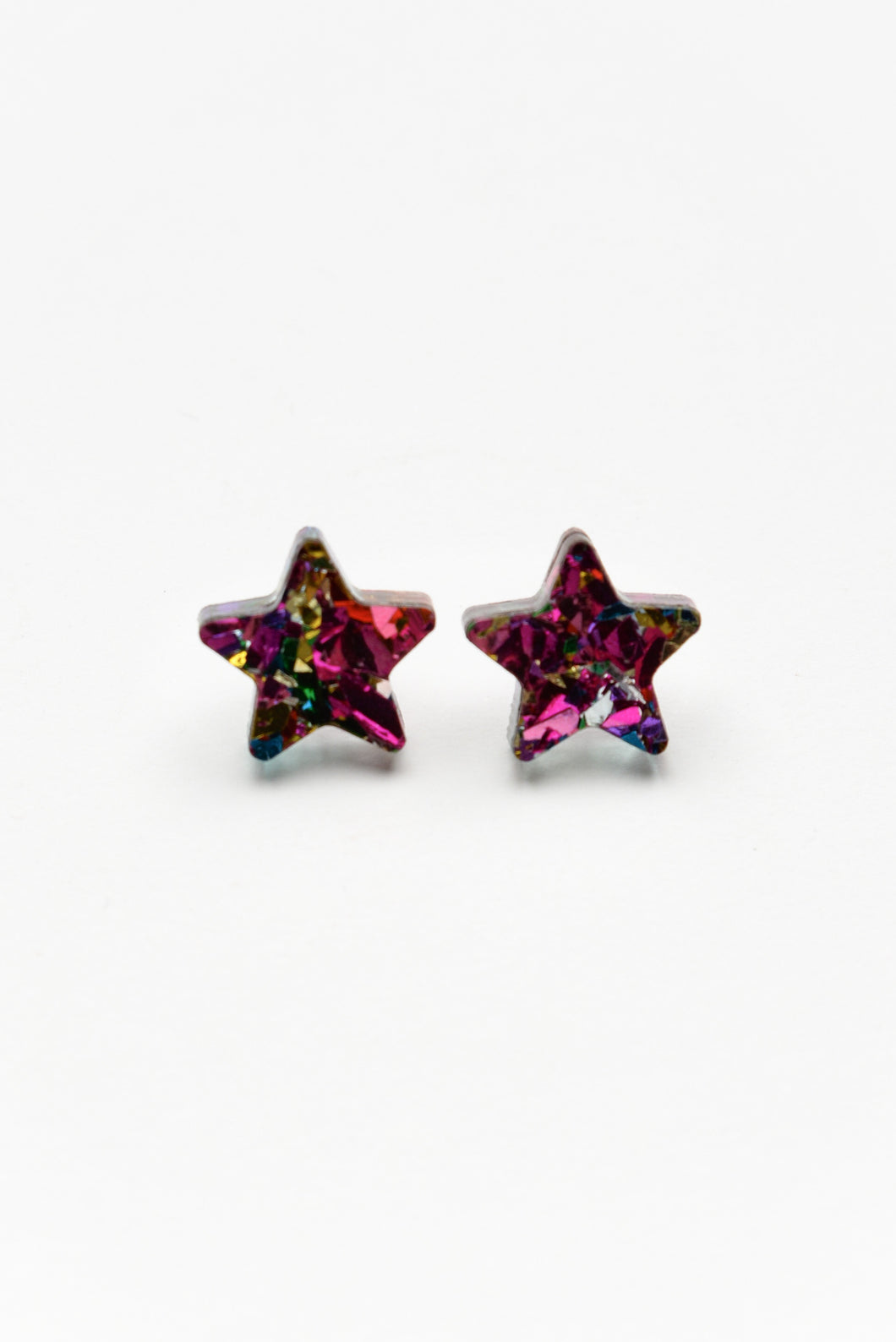 Carnival Pink Star Studs