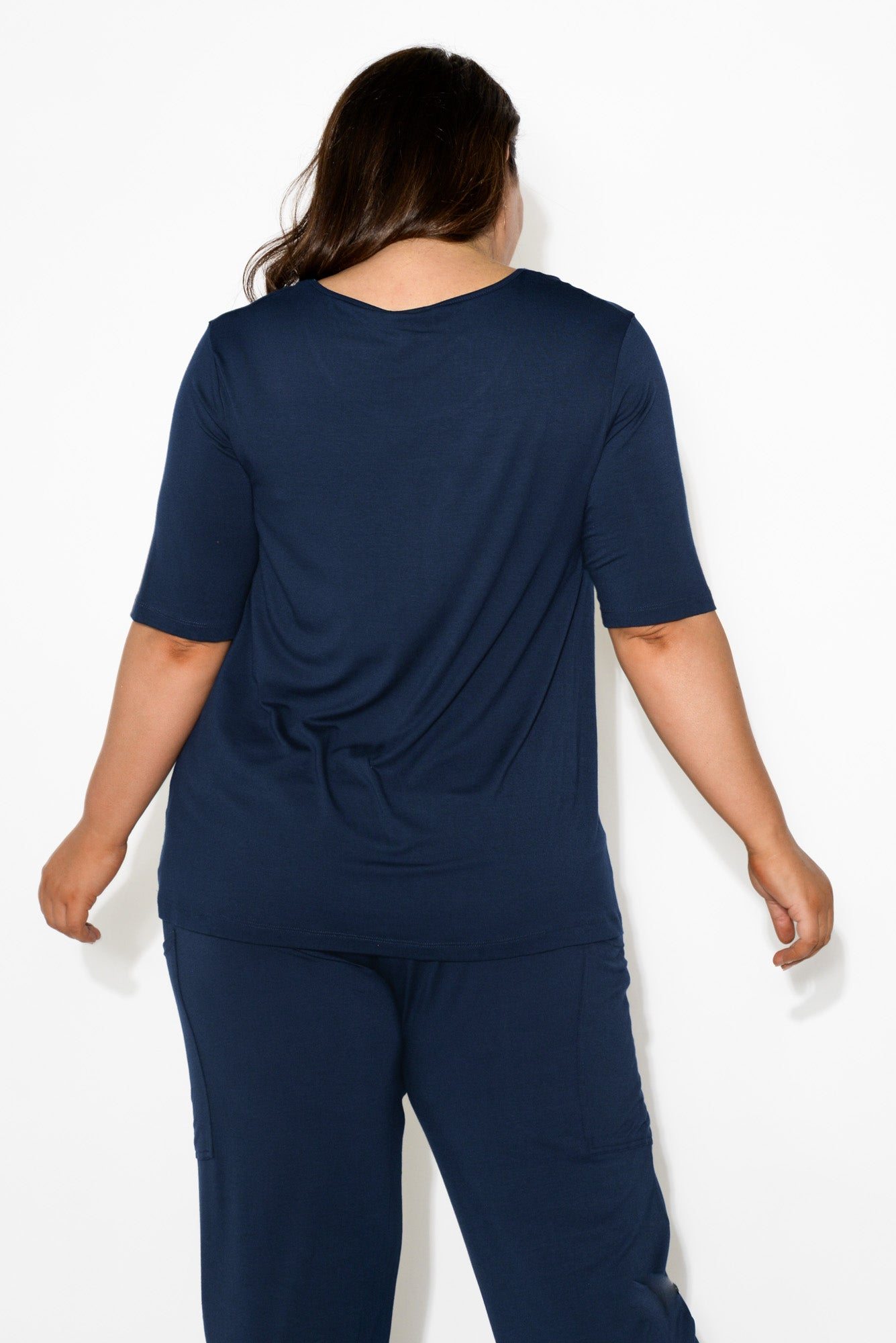 Carter Navy Bamboo Tunic Top
