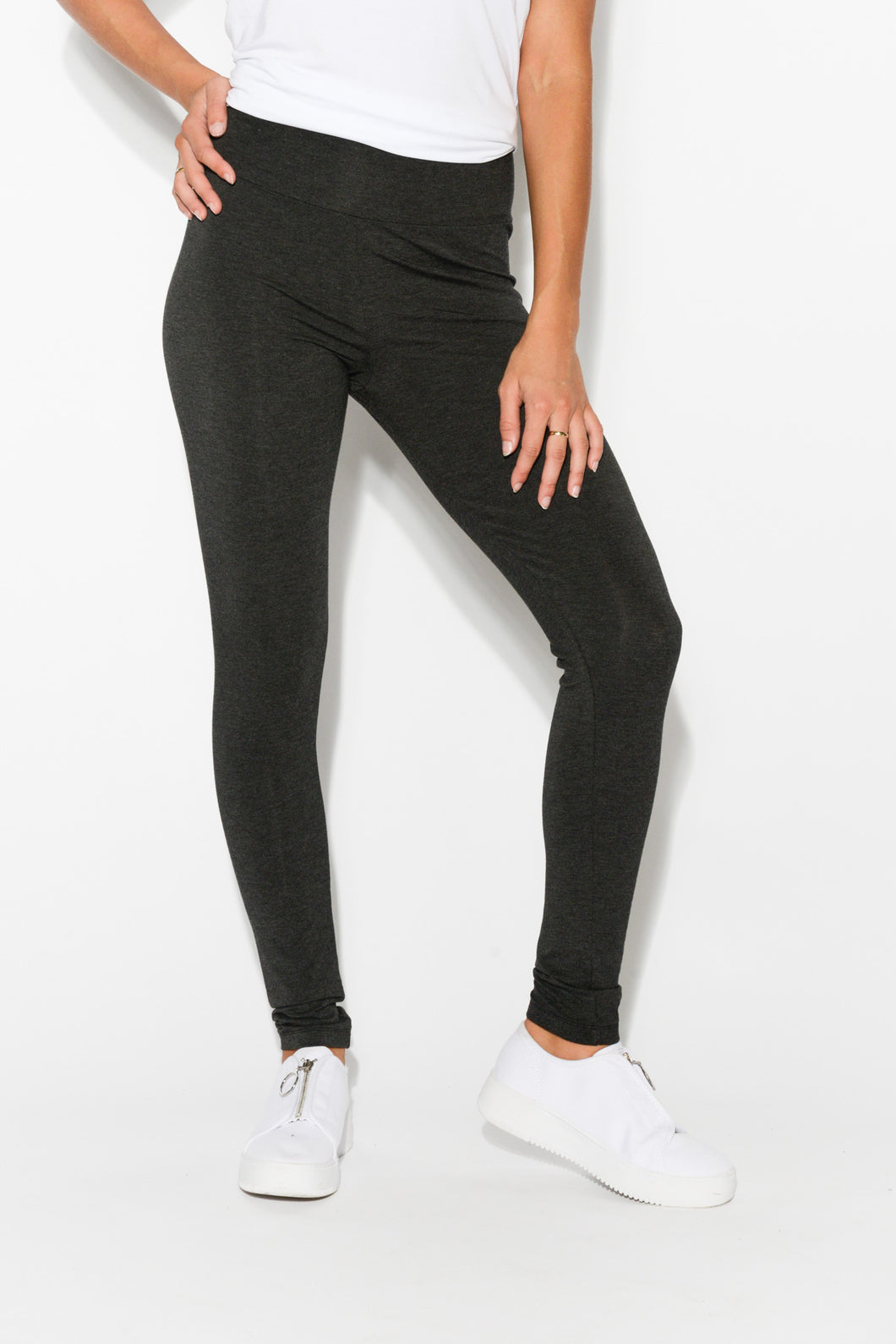 Charcoal Bamboo Stretch Leggings - Blue Bungalow