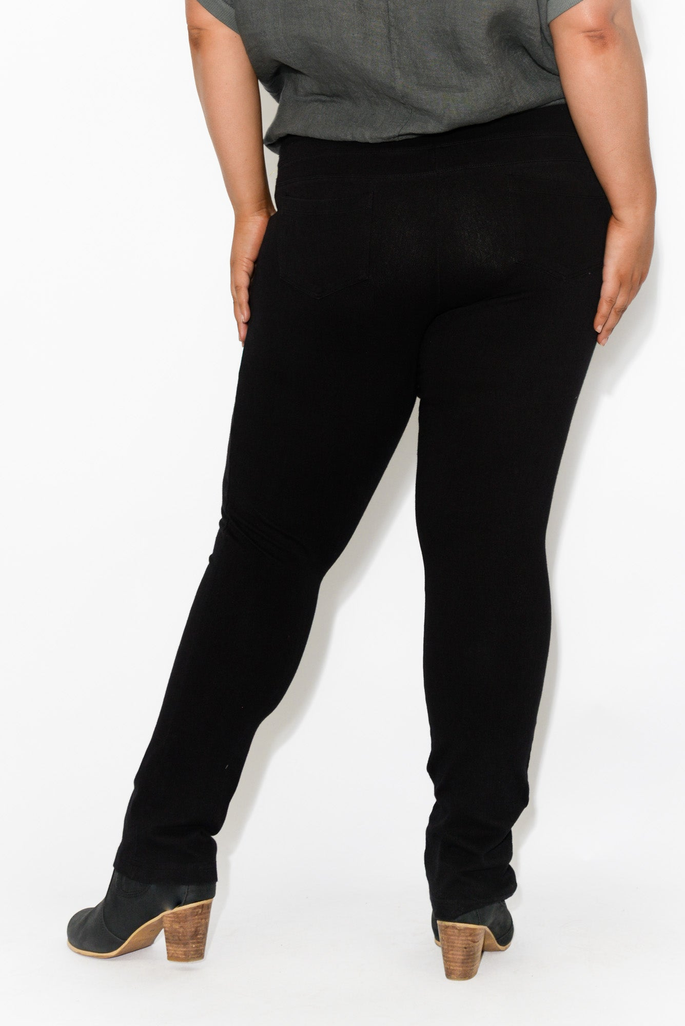 Chester Black Stretch Ponte Pant