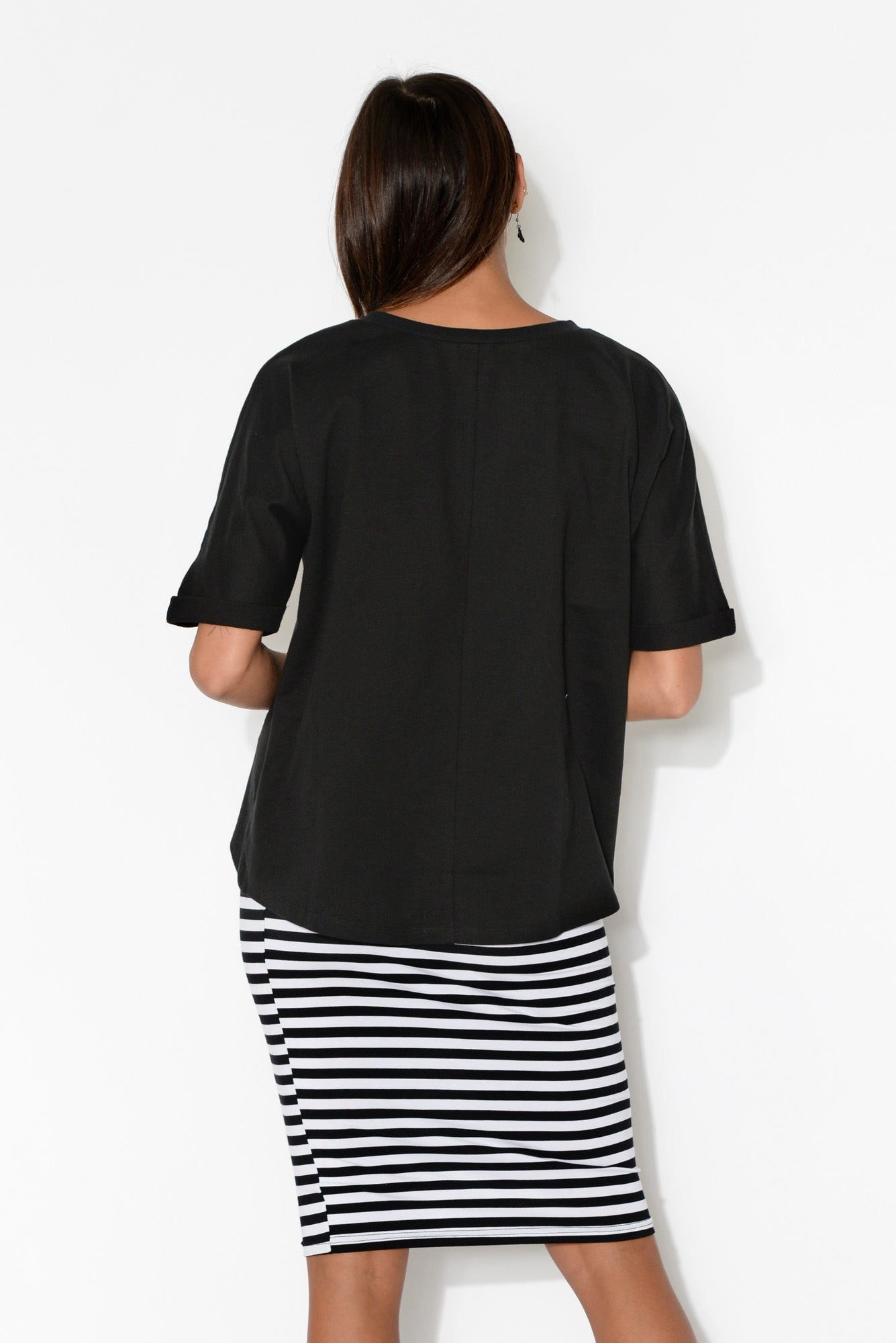 Chet Black Short Sleeve Jumper