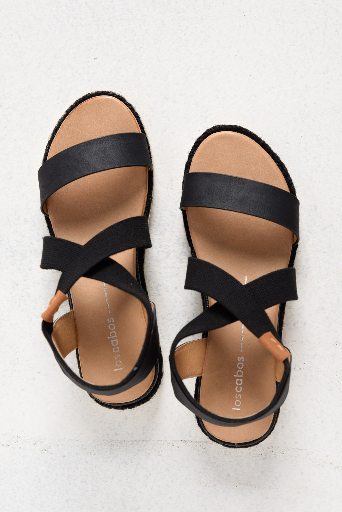 Clan Black Elastic Sandal