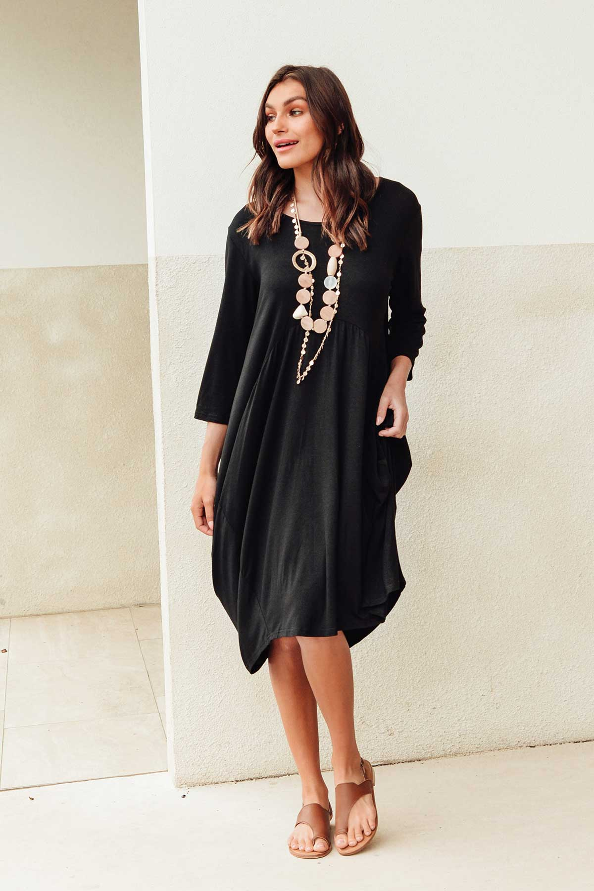 Coco Black Sleeved Dress