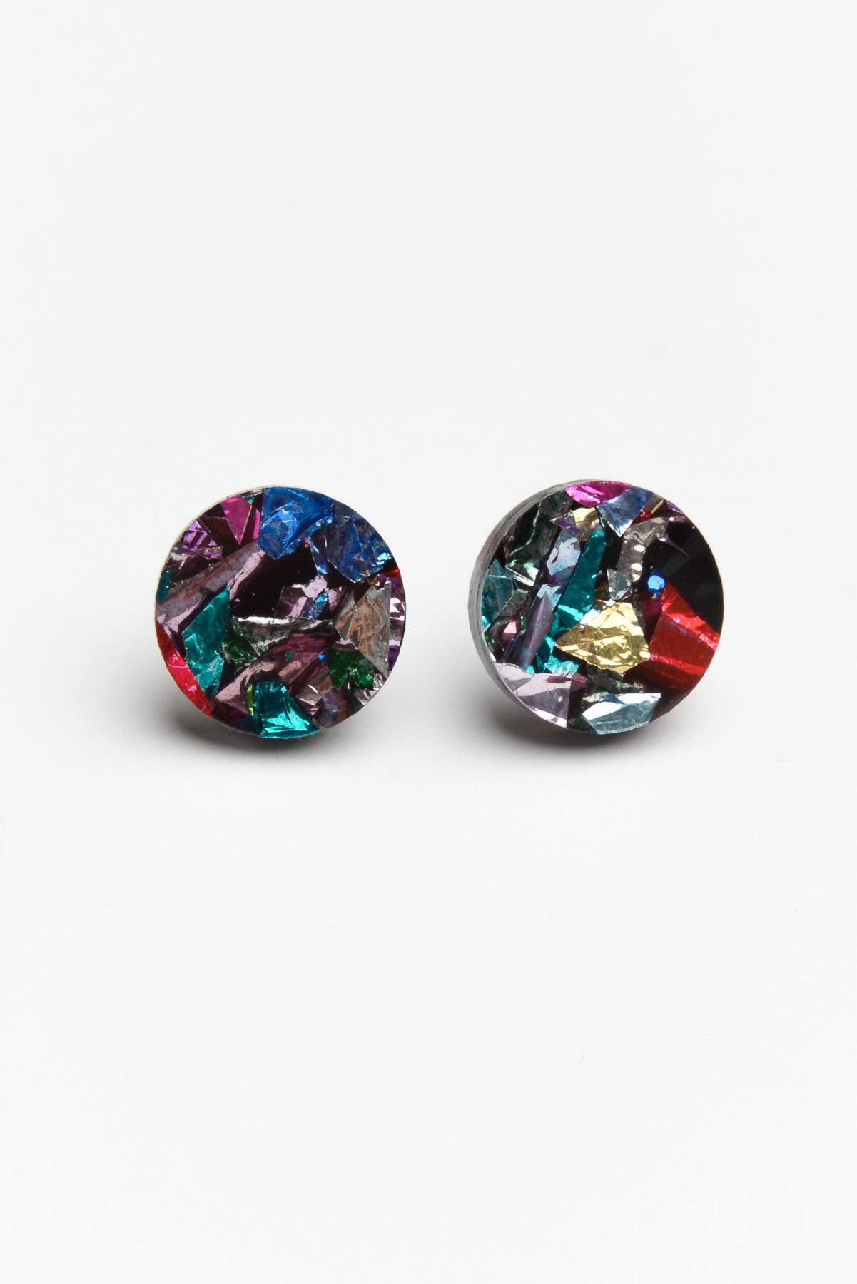 Confetti Rainbow Stud Earrings