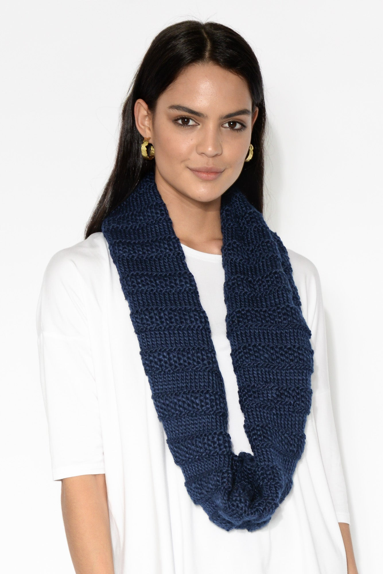 Constance Navy Knit Snood