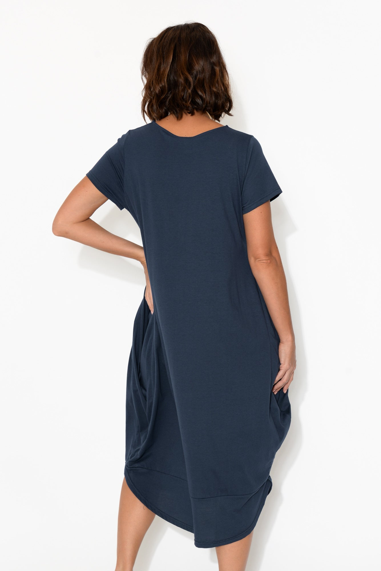 Cooper Navy Cotton Dress
