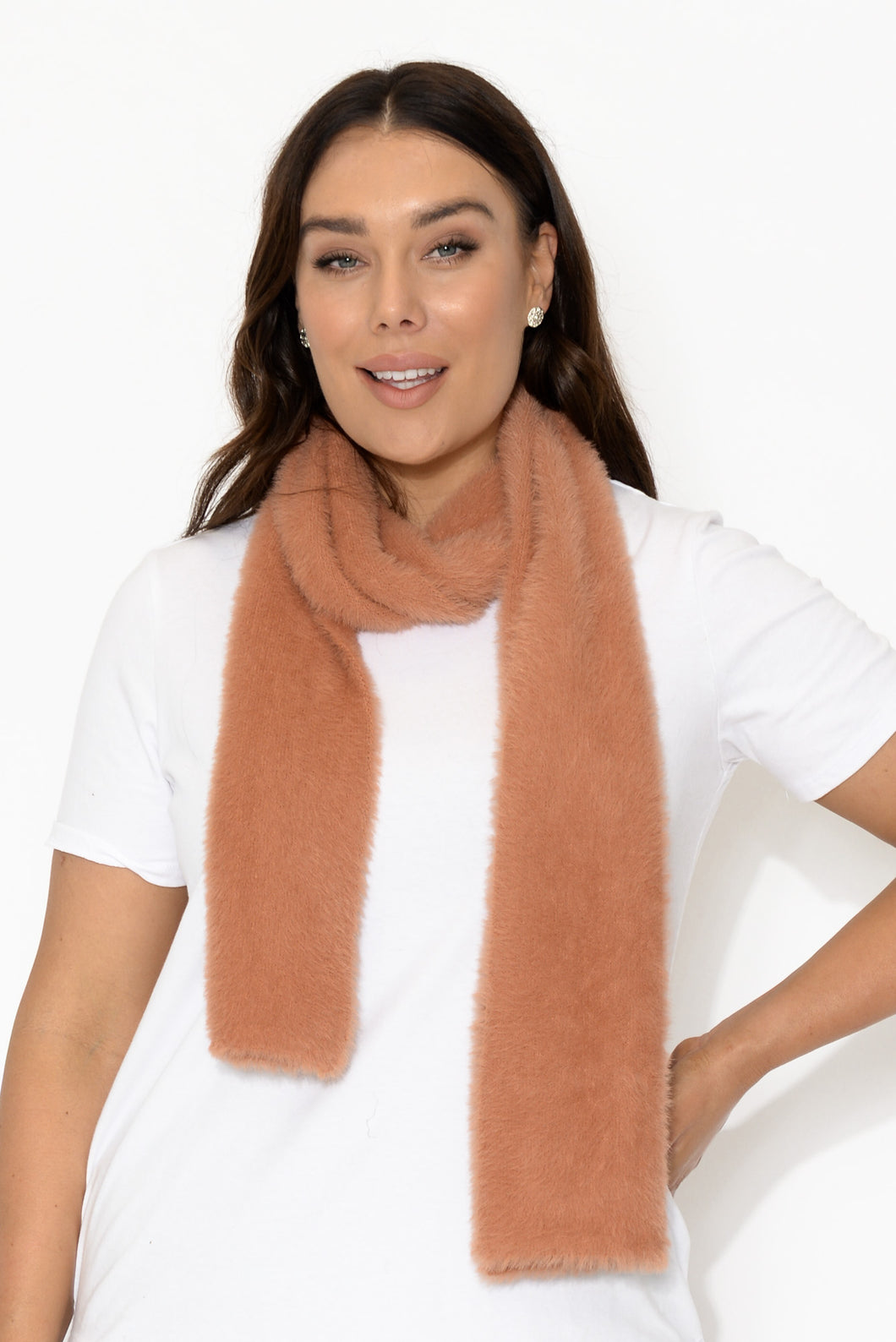 Coral Fawn Montana Scarf