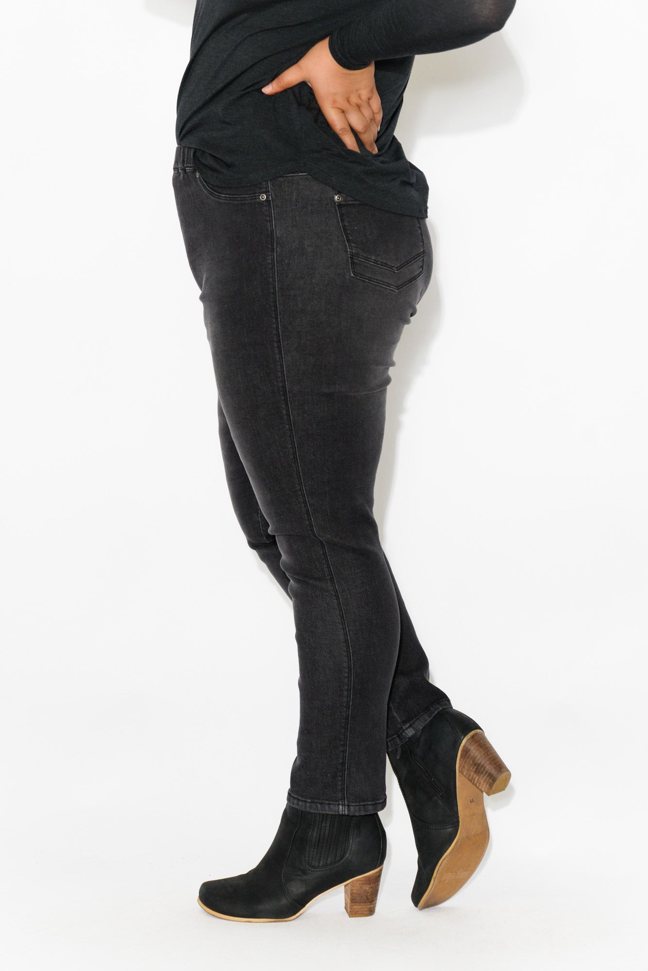 Courtney Black Denim Stretch Jean