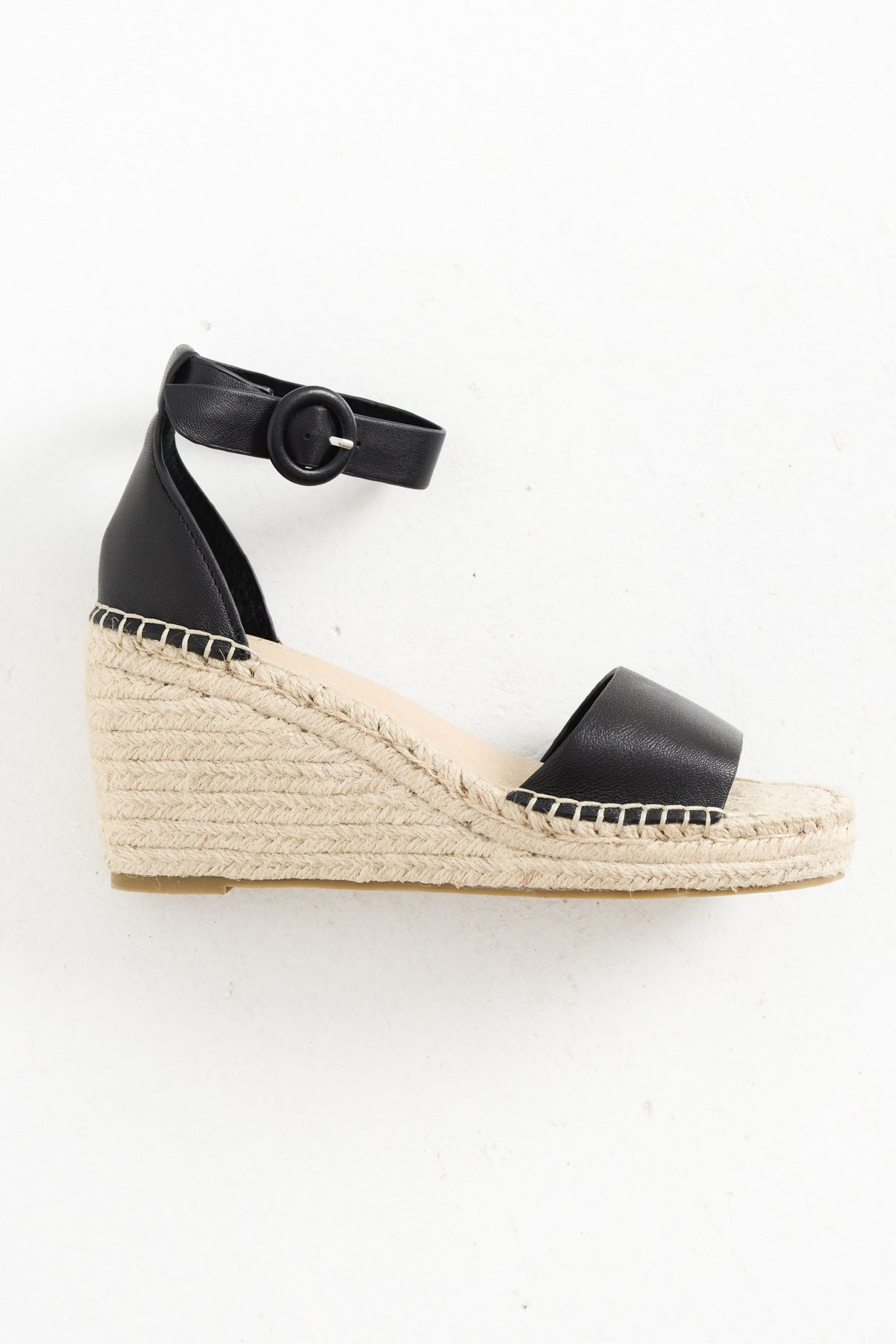 Dahlia Black Wedge Sandal