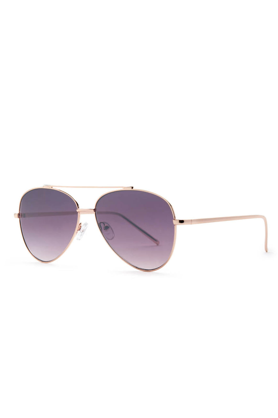 Dallas Rose Gold Aviator Sunglasses