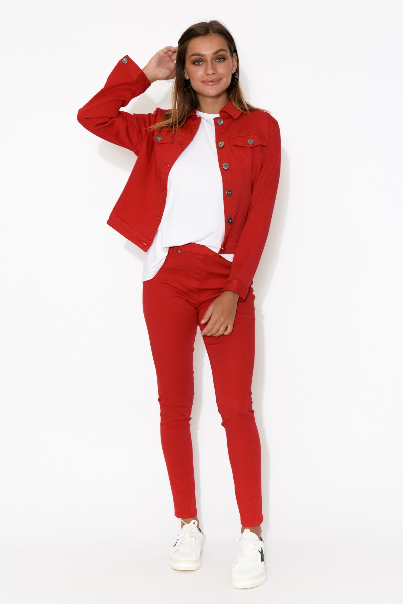 Reed Red Stretch Cotton Pant