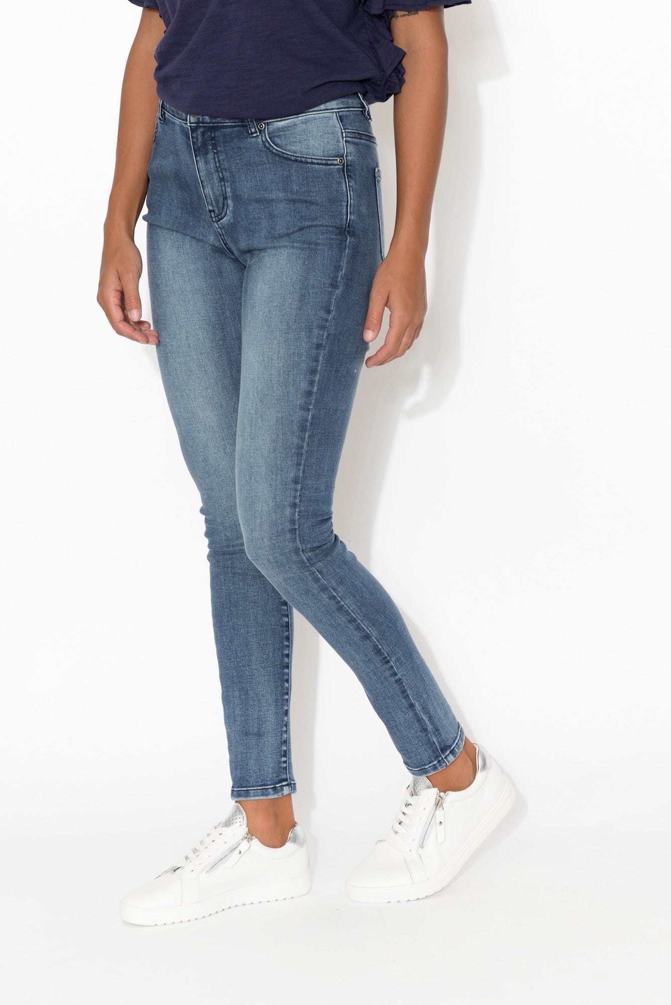 Katika Dark Denim Zip Front Jean