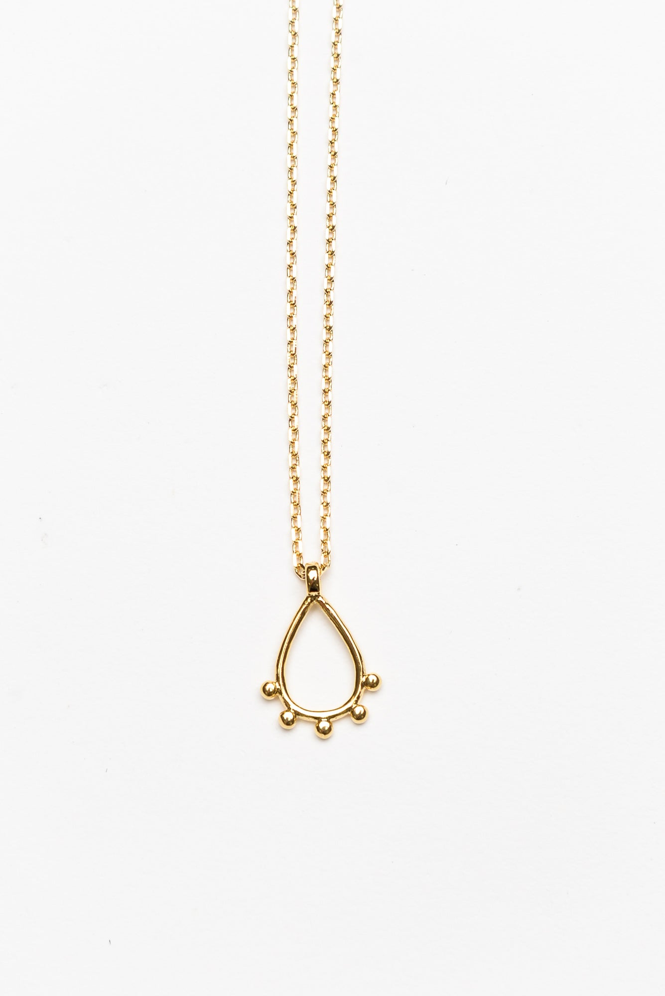 Daya Gold Mini Teardrop Necklace