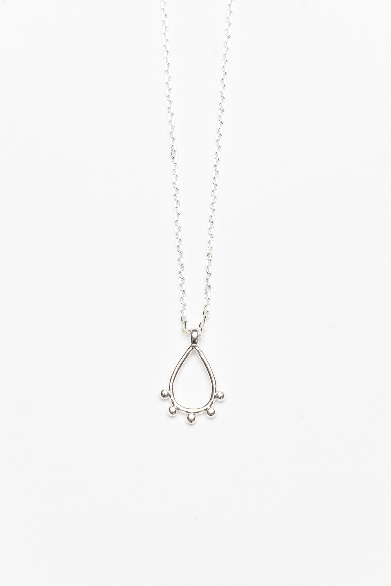Daya Silver Mini Teardrop Necklace