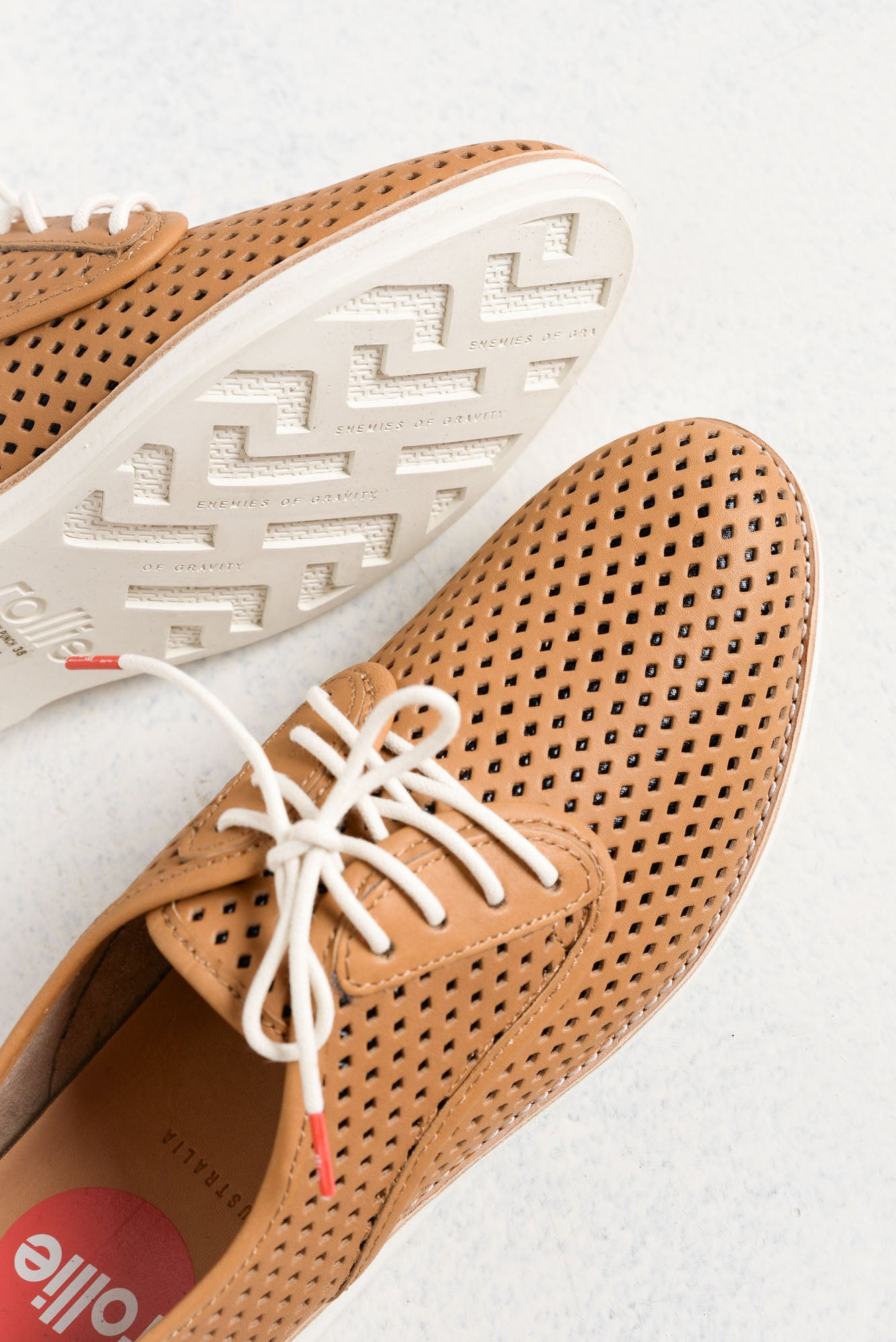 Derby Tan Punch Leather Lace Shoe