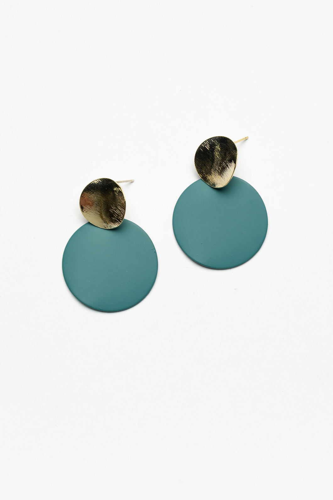 Disco Blue Circle Plate Earring - Blue Bungalow