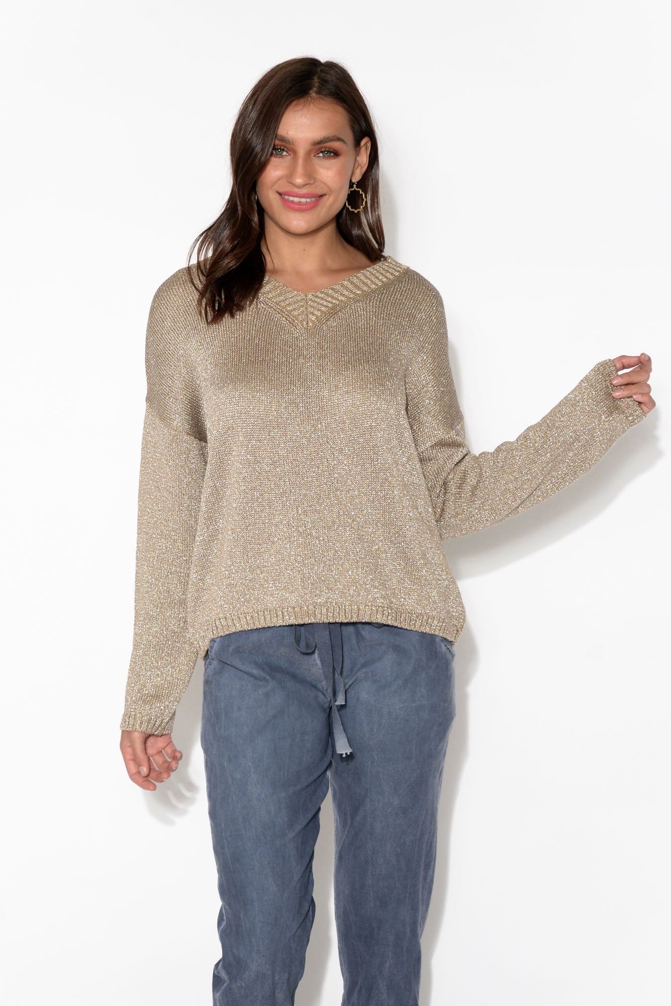 Dodger Taupe Sparkle Knit