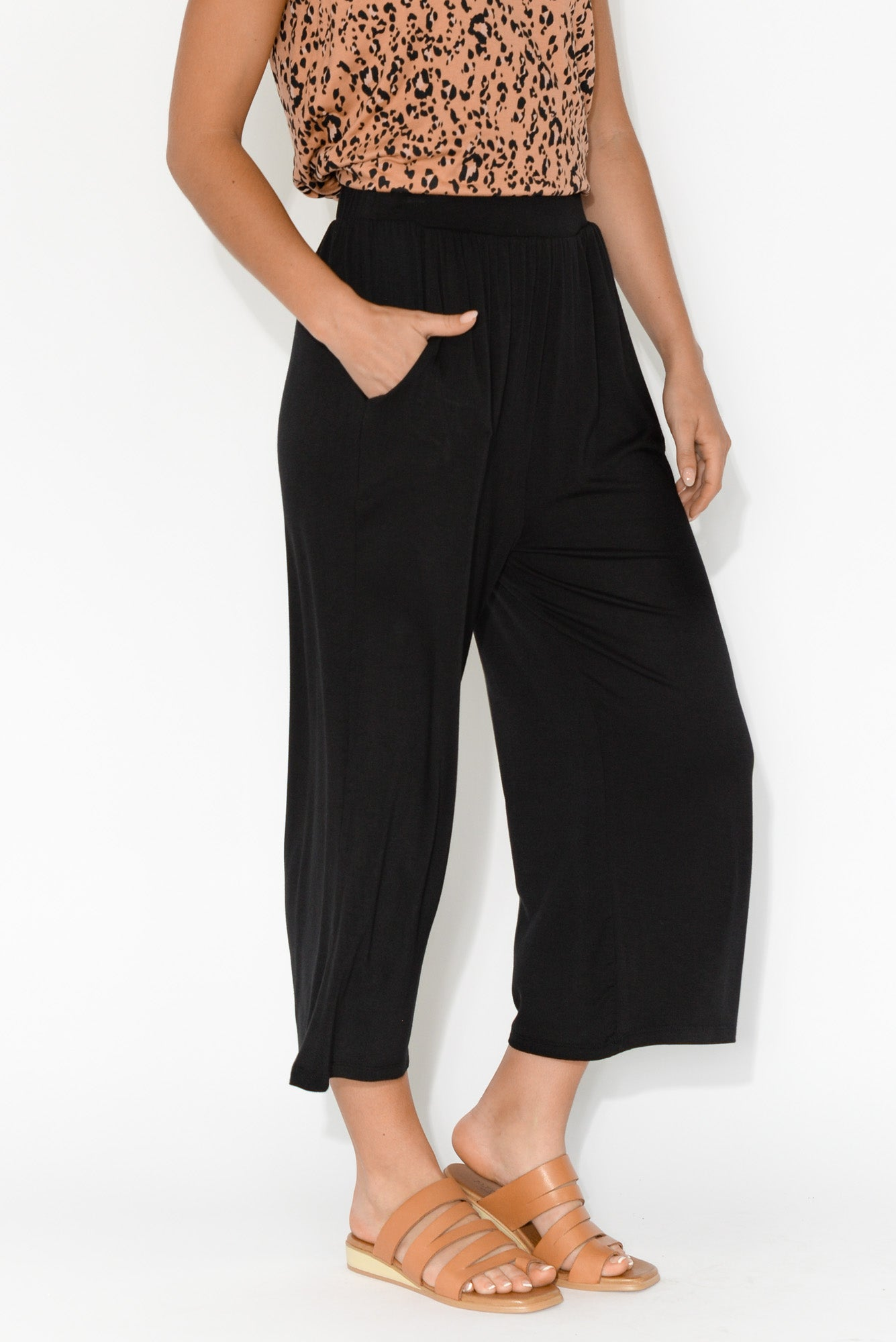 Dublin Black Cropped Pant