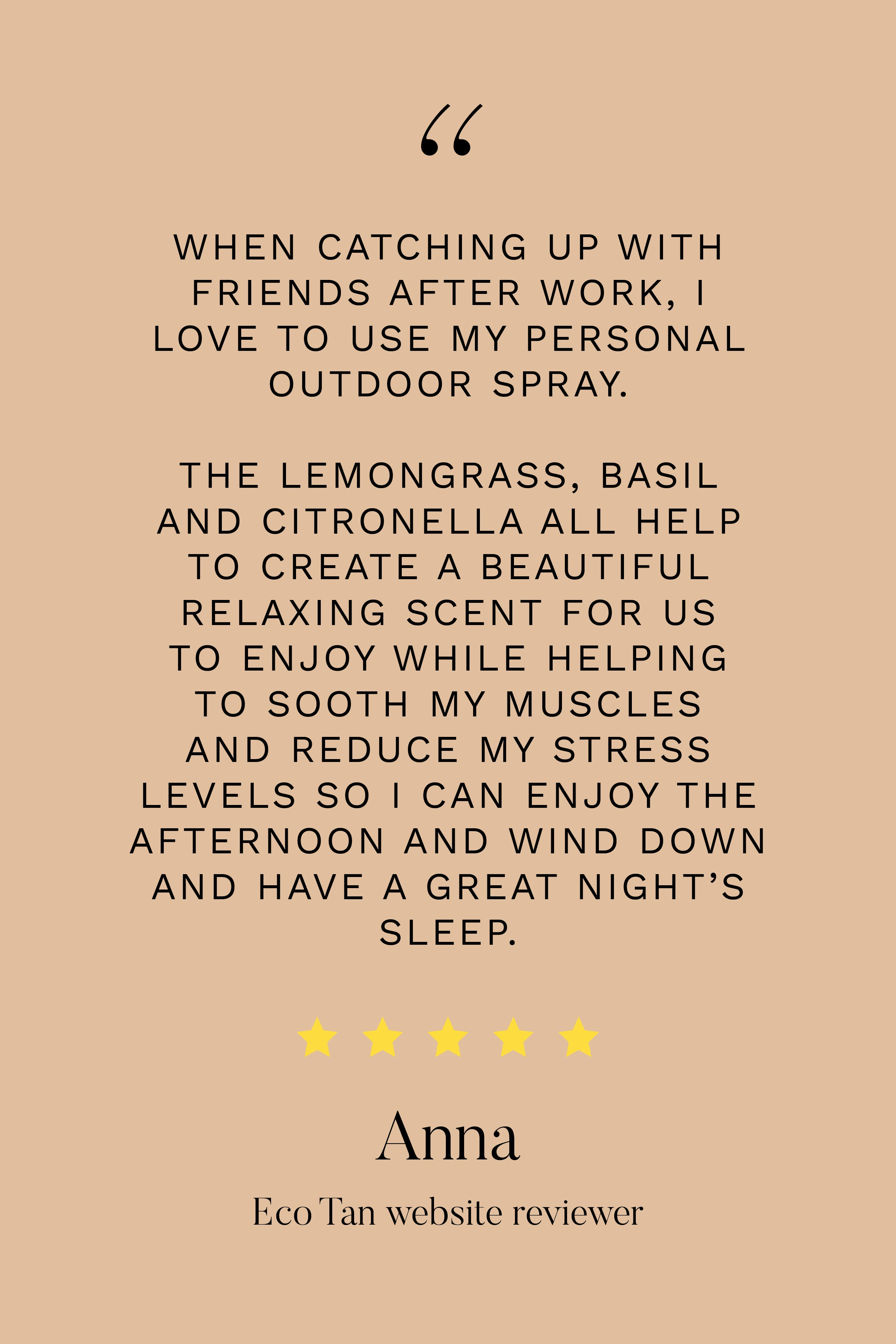Eco Citronella Personal Outdoor Spray
