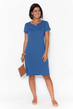 Ellie Cobalt Cotton Tee Dress